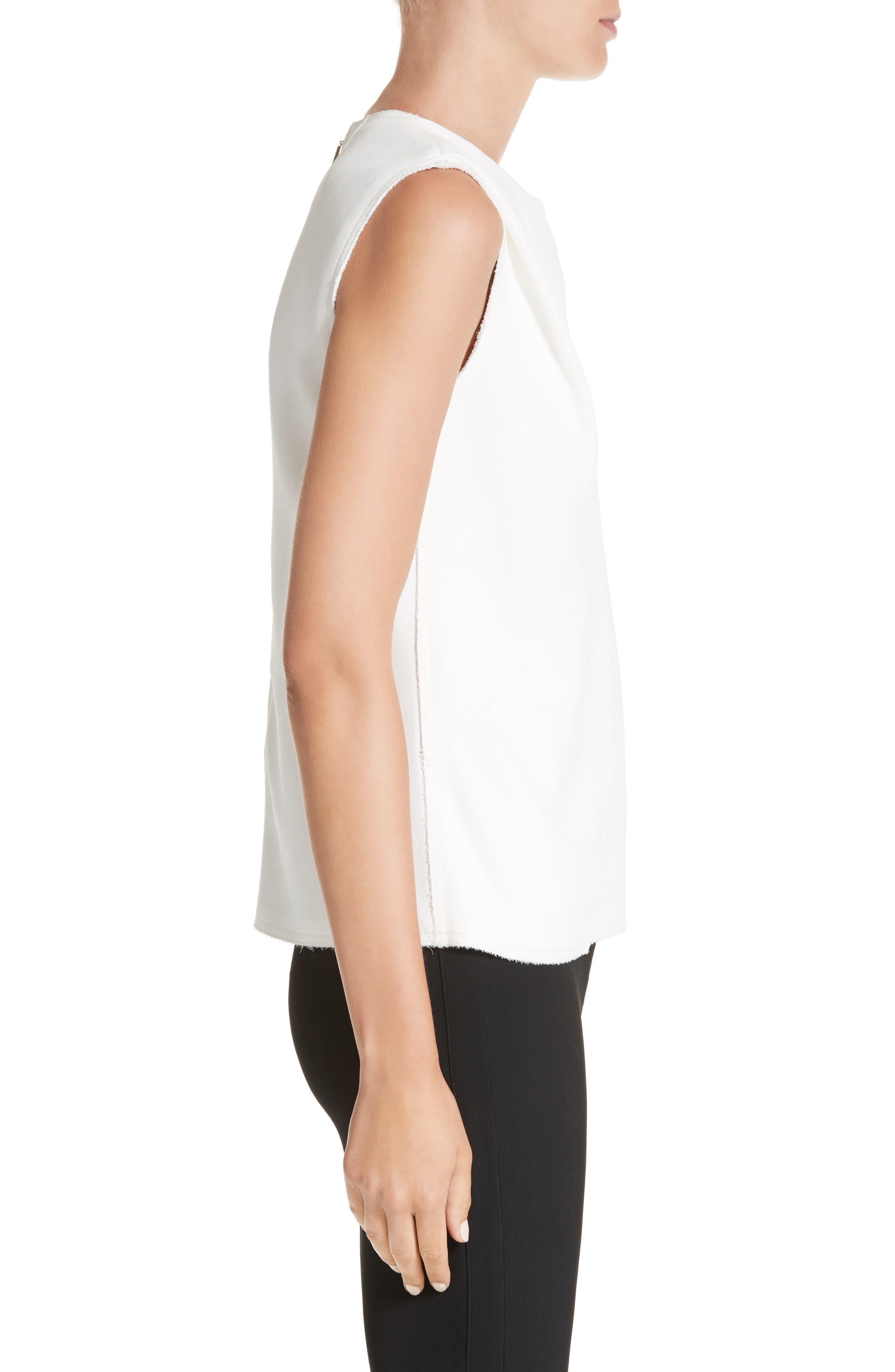 Sleeveless Crepe Top,                             Alternate thumbnail 3, color,