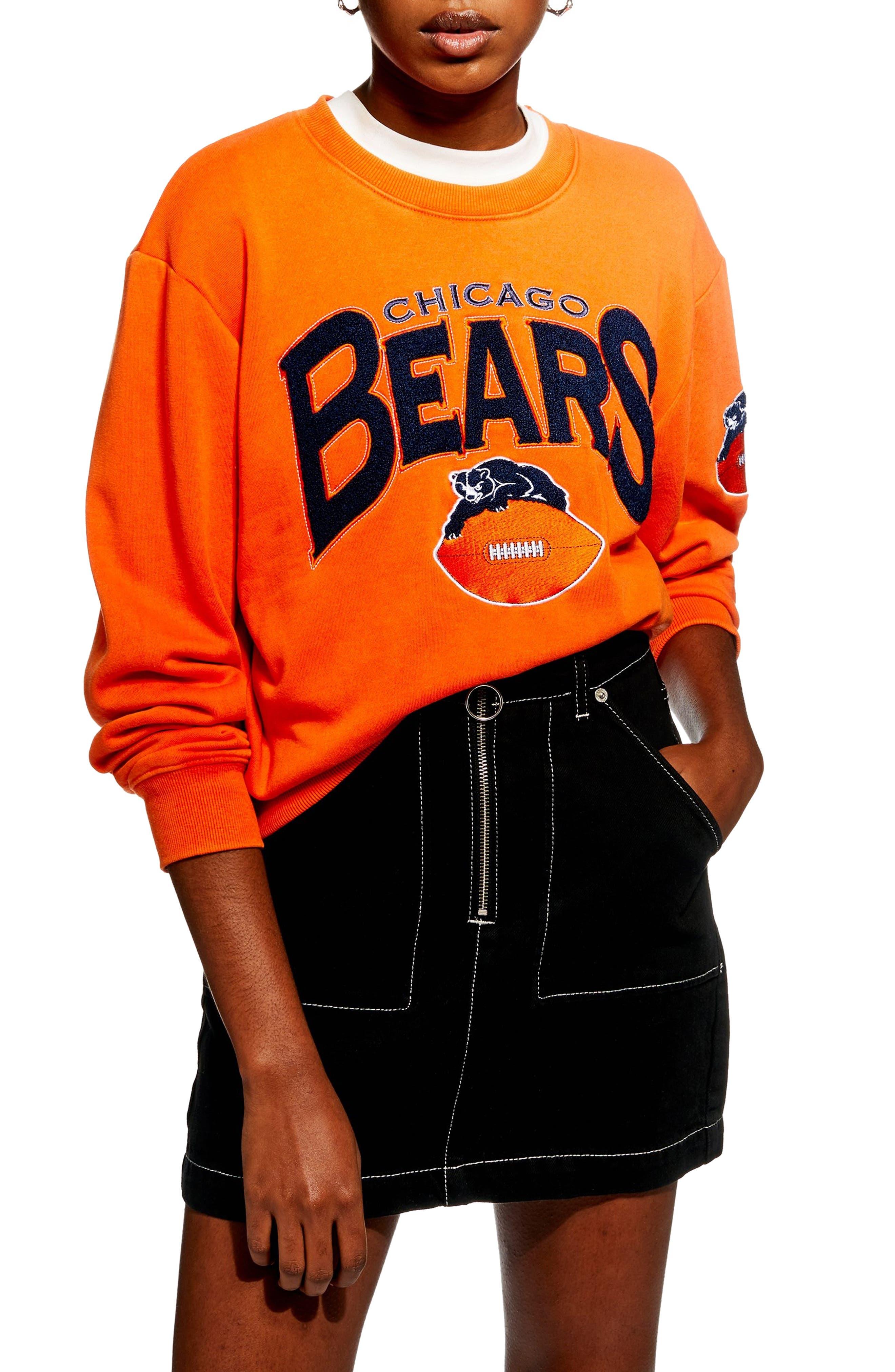 Chicago Bears Crop Sweatshirt,                             Main thumbnail 1, color,                             800
