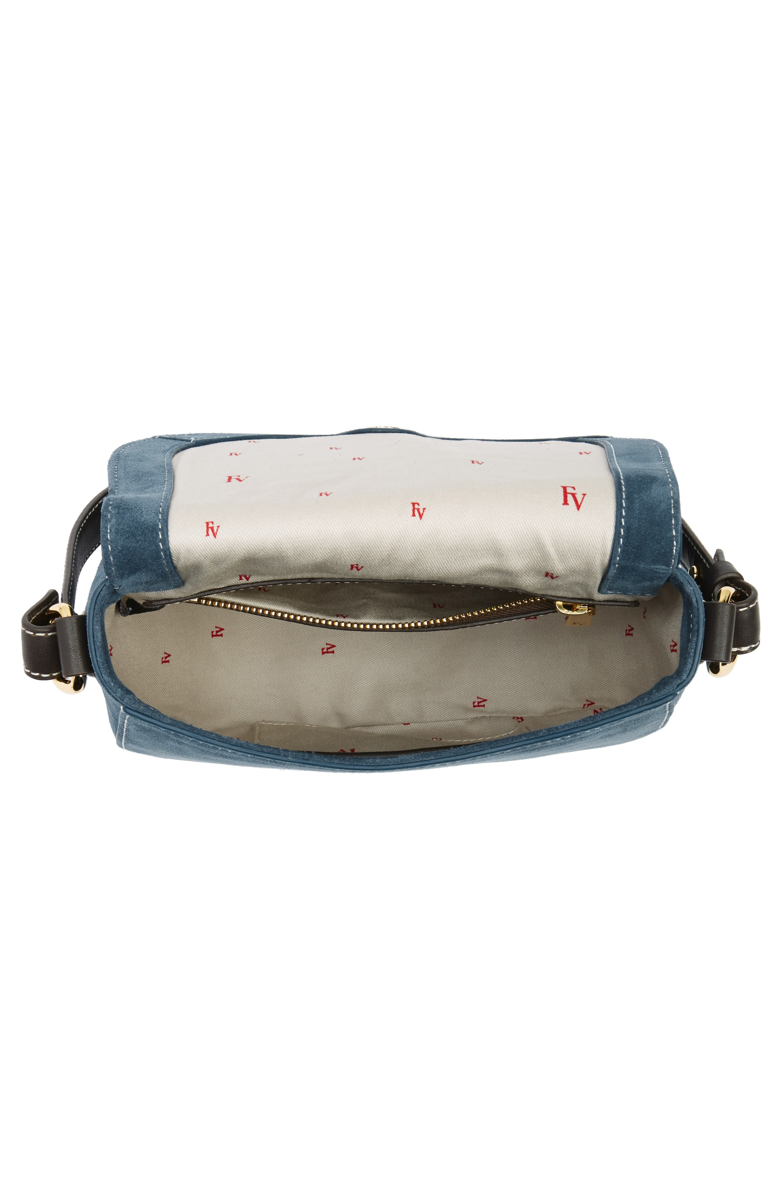 Mini Ellen Suede Crossbody Bag,                             Alternate thumbnail 11, color,