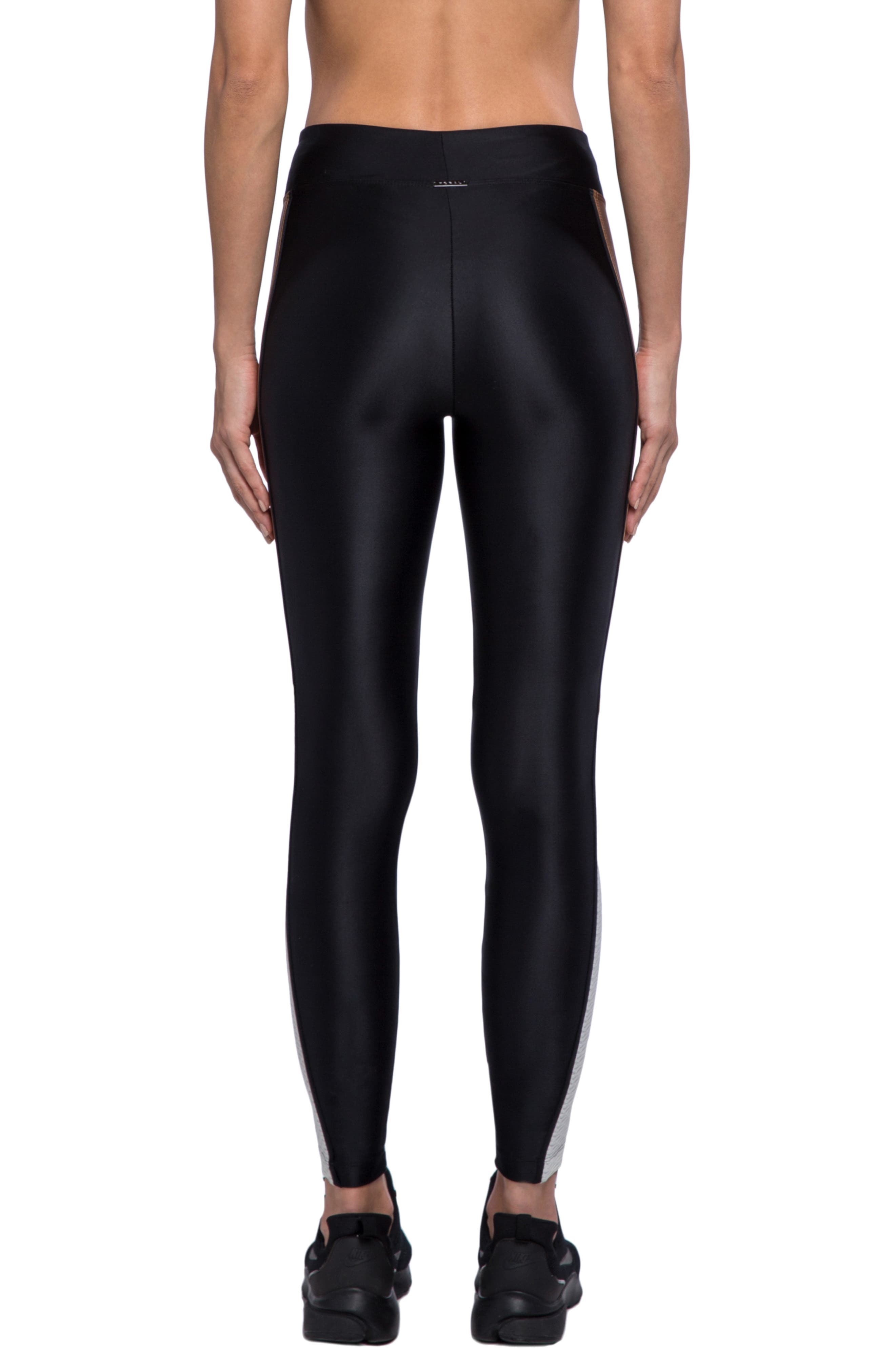 Serendipity Energy Leggings,                             Alternate thumbnail 2, color,                             BLACK/ TOFFEE/ EGRET