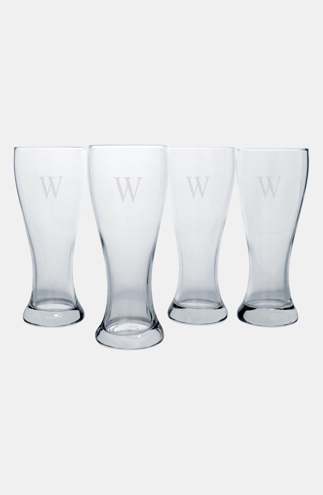 Monogram Pilsner Glasses,                             Alternate thumbnail 30, color,