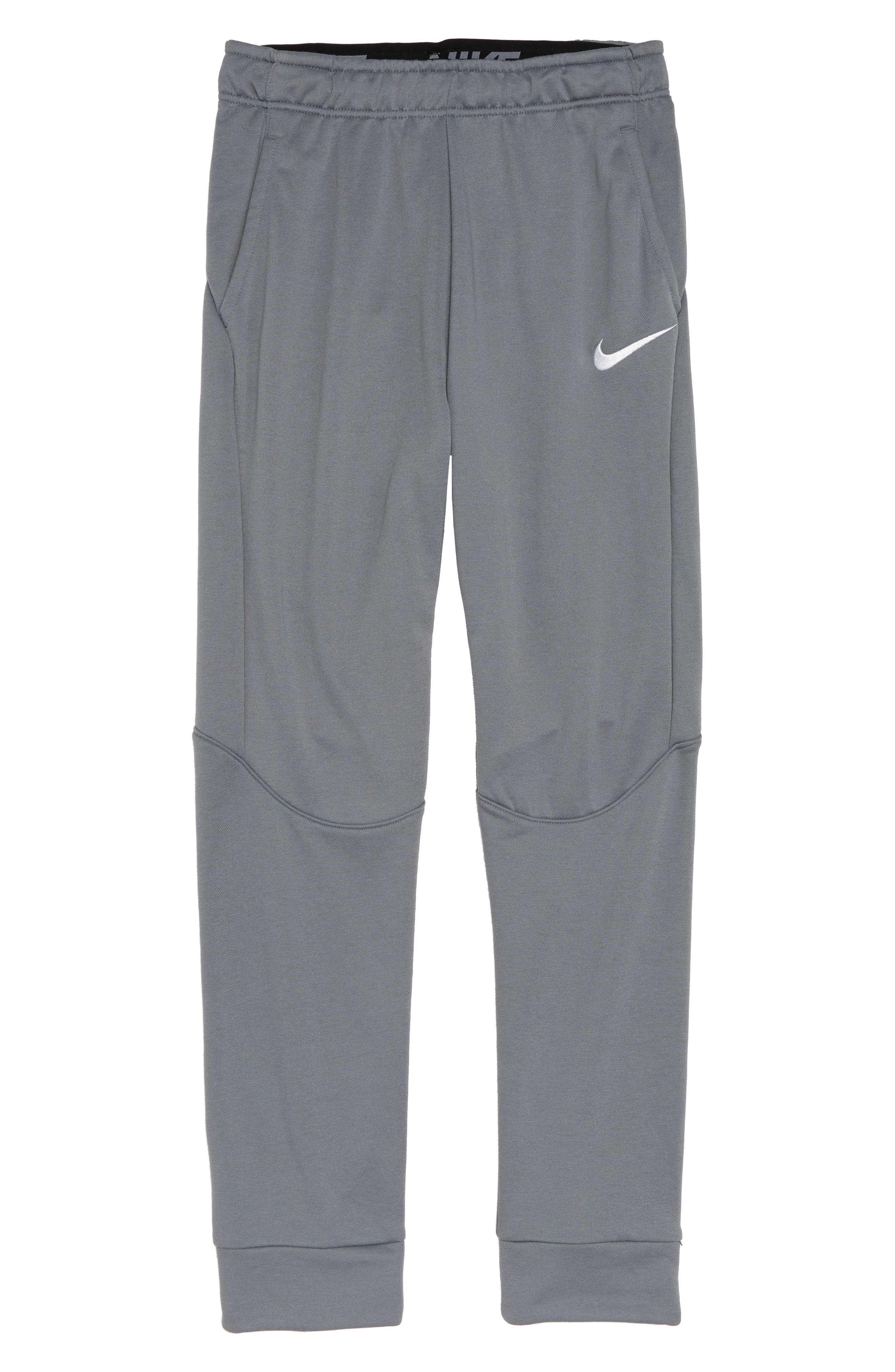 Dry Fleece Training Pants,                             Main thumbnail 1, color,                             COOL GREY/ WHITE