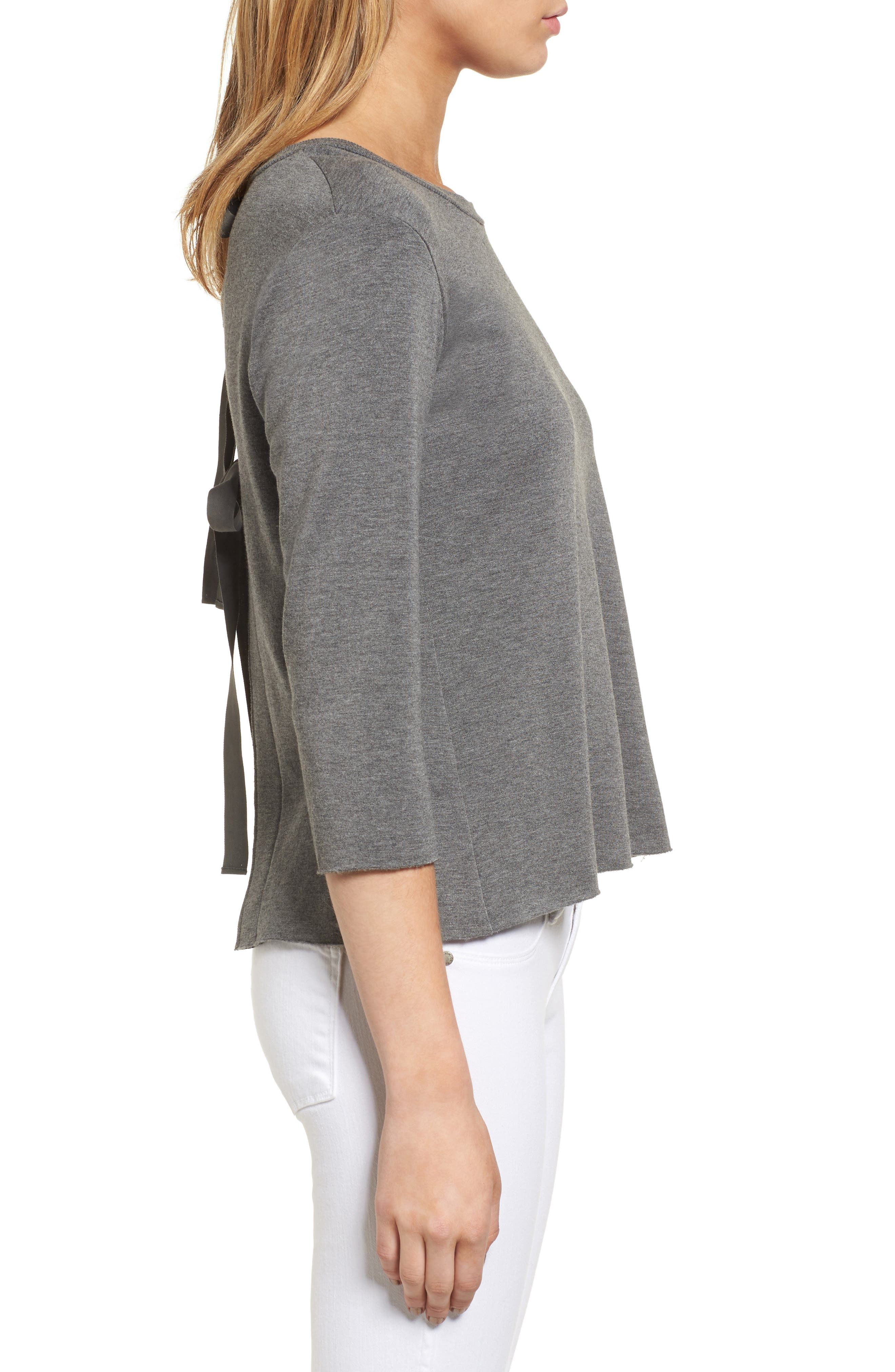 Frappe Tie Back Sweater,                             Alternate thumbnail 3, color,                             021