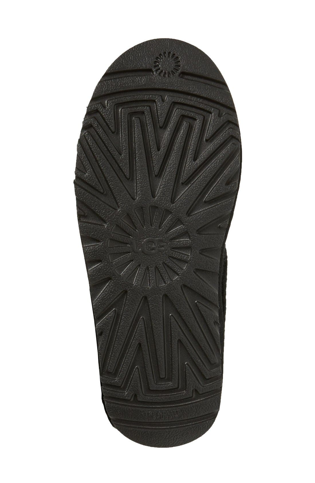 UGG<SUP>®</SUP>,                             Classic Cardy II Knit Boot,                             Alternate thumbnail 3, color,                             BLACK FABRIC