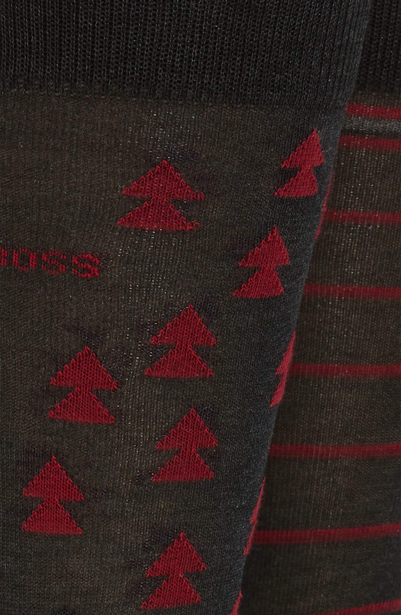 BOSS,                             2-Pack Pine Tree Socks,                             Alternate thumbnail 2, color,                             020