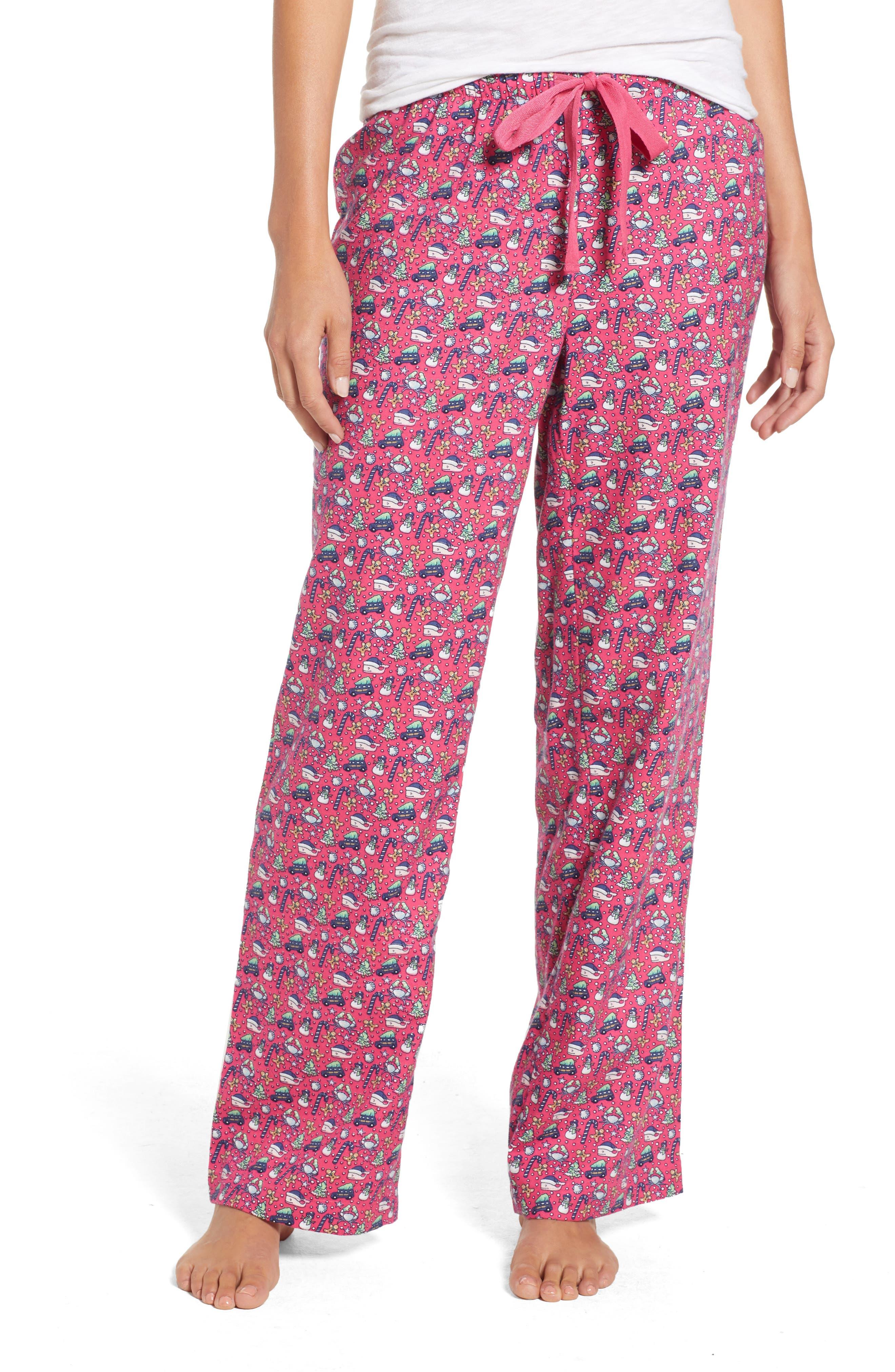 Holiday Print Lounge Pants,                         Main,                         color, GOJI BERRY