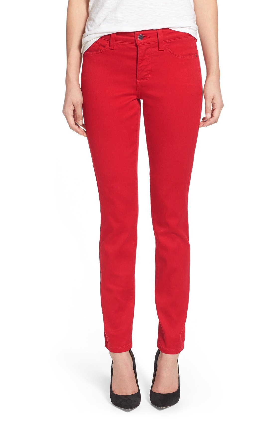 Alina Colored Stretch Skinny Jeans,                             Main thumbnail 34, color,