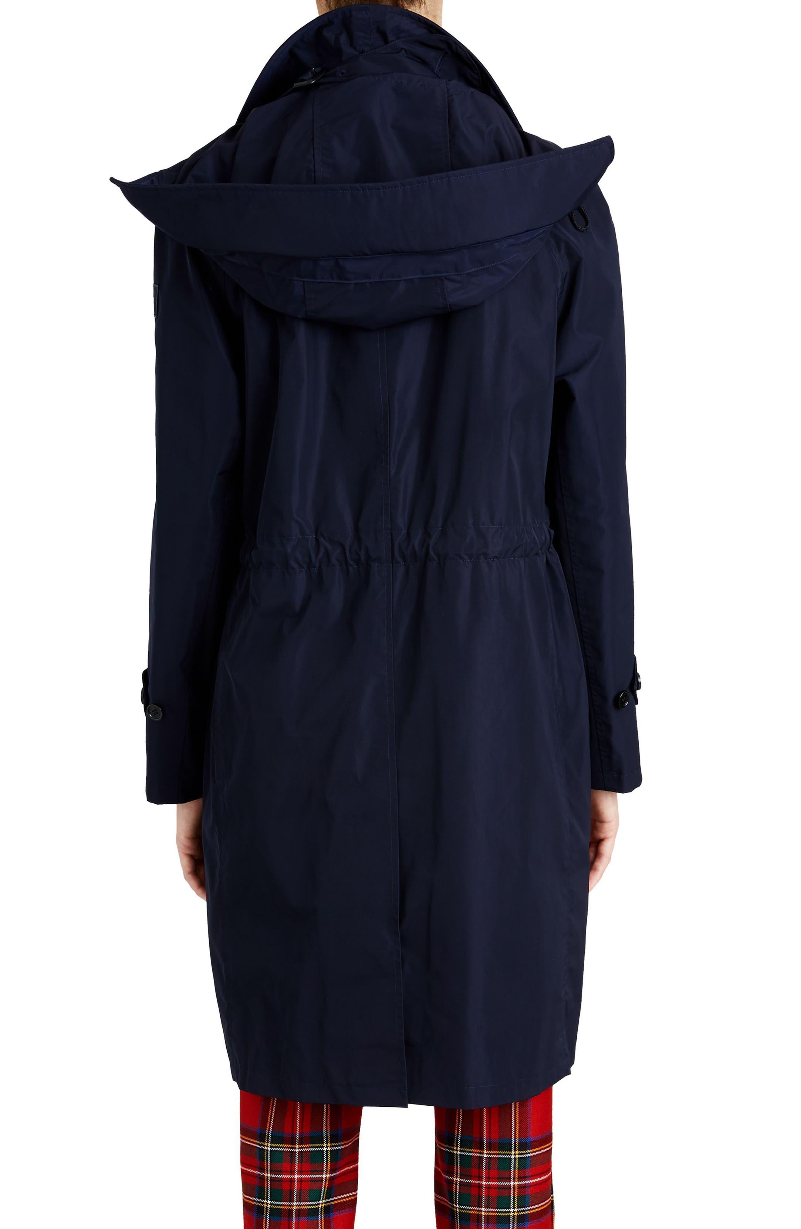 Tringford Waterproof Hooded Coat,                             Alternate thumbnail 2, color,                             NAVY