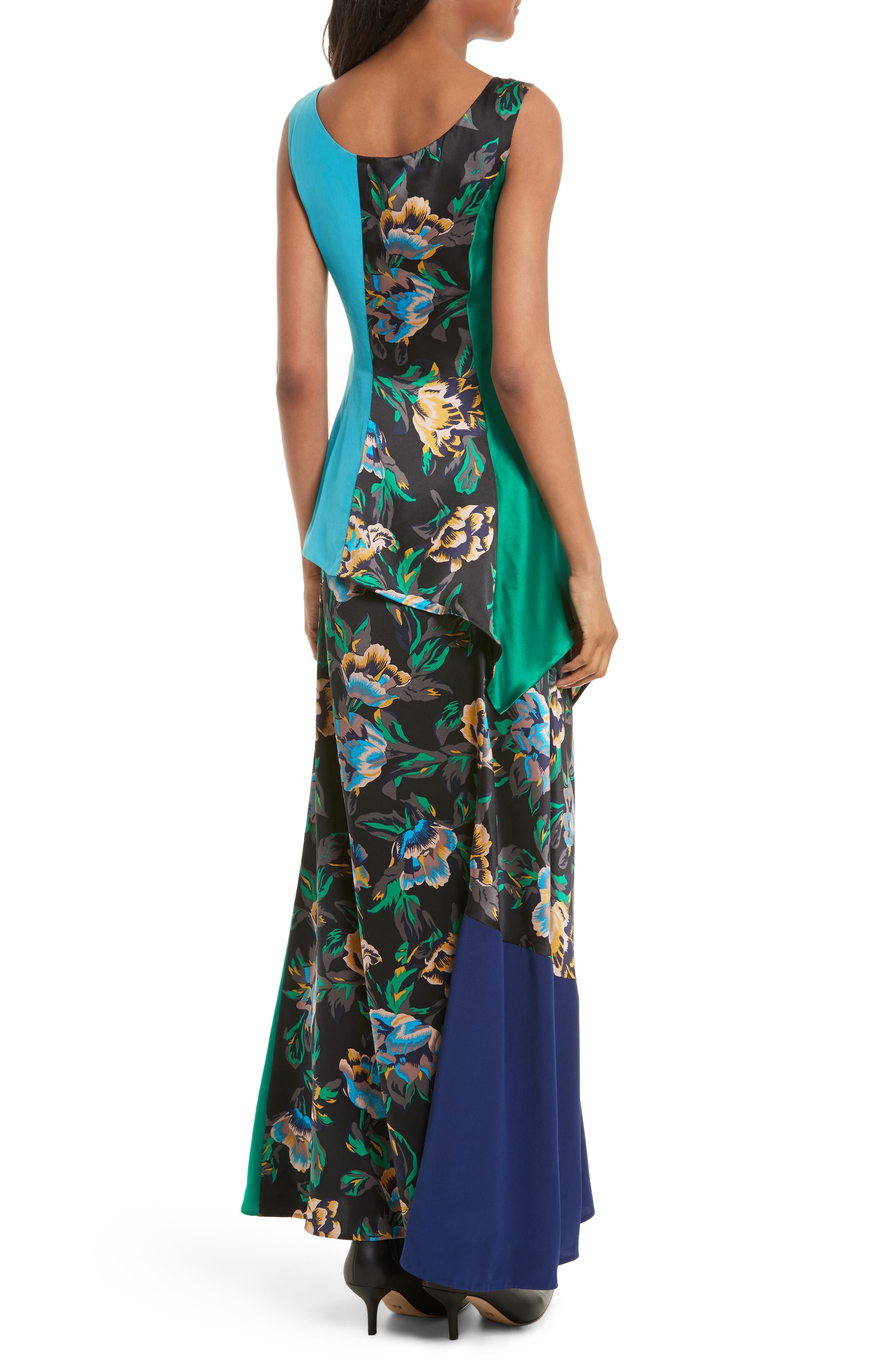 Double Layer Silk Maxi Dress,                             Alternate thumbnail 2, color,                             442