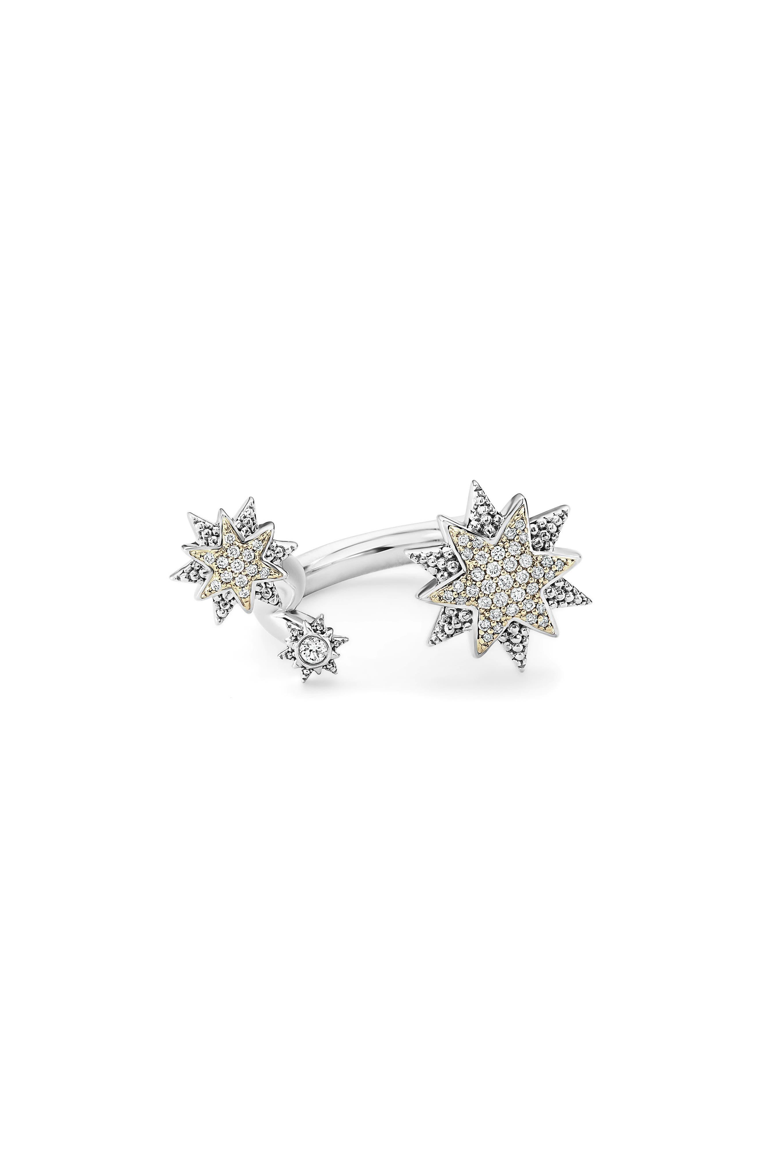 North Star Diamond Ring,                             Alternate thumbnail 4, color,                             DIAMOND