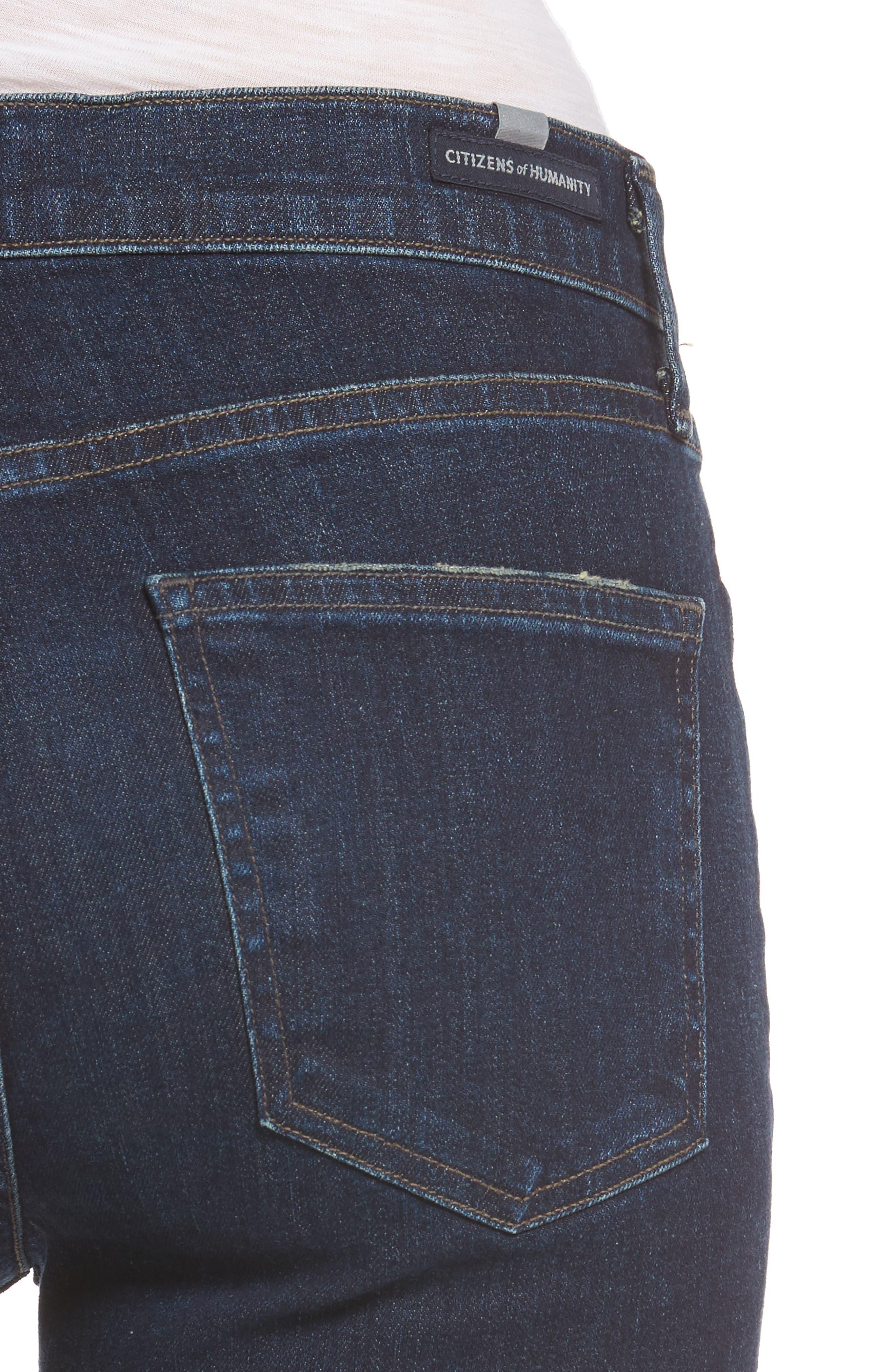 Cara Ankle Cigarette Jeans,                             Alternate thumbnail 4, color,                             401