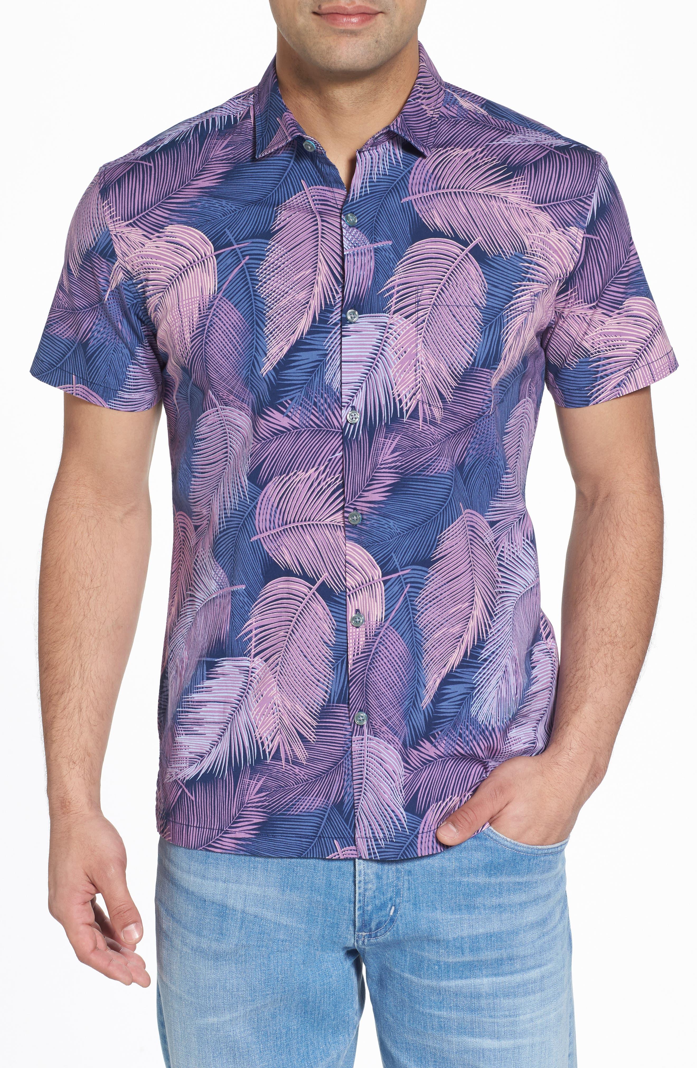 Shadow Play Trim Fit Sport Shirt,                         Main,                         color, 415