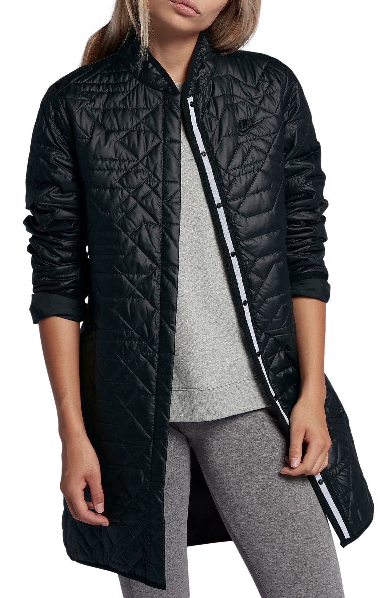Sportswear Quilted Women's Parka,                             Main thumbnail 1, color,                             010