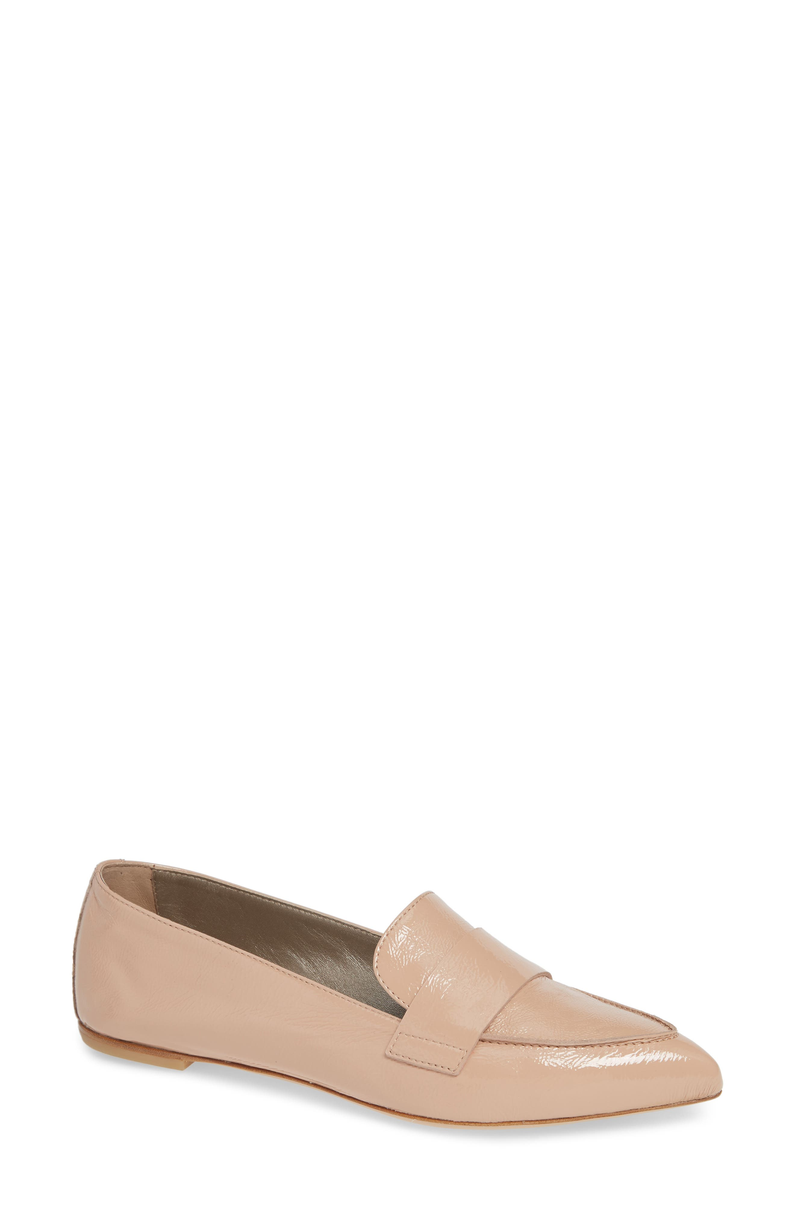 Agl Softy Pointy Toe Moccasin Loafer - Beige
