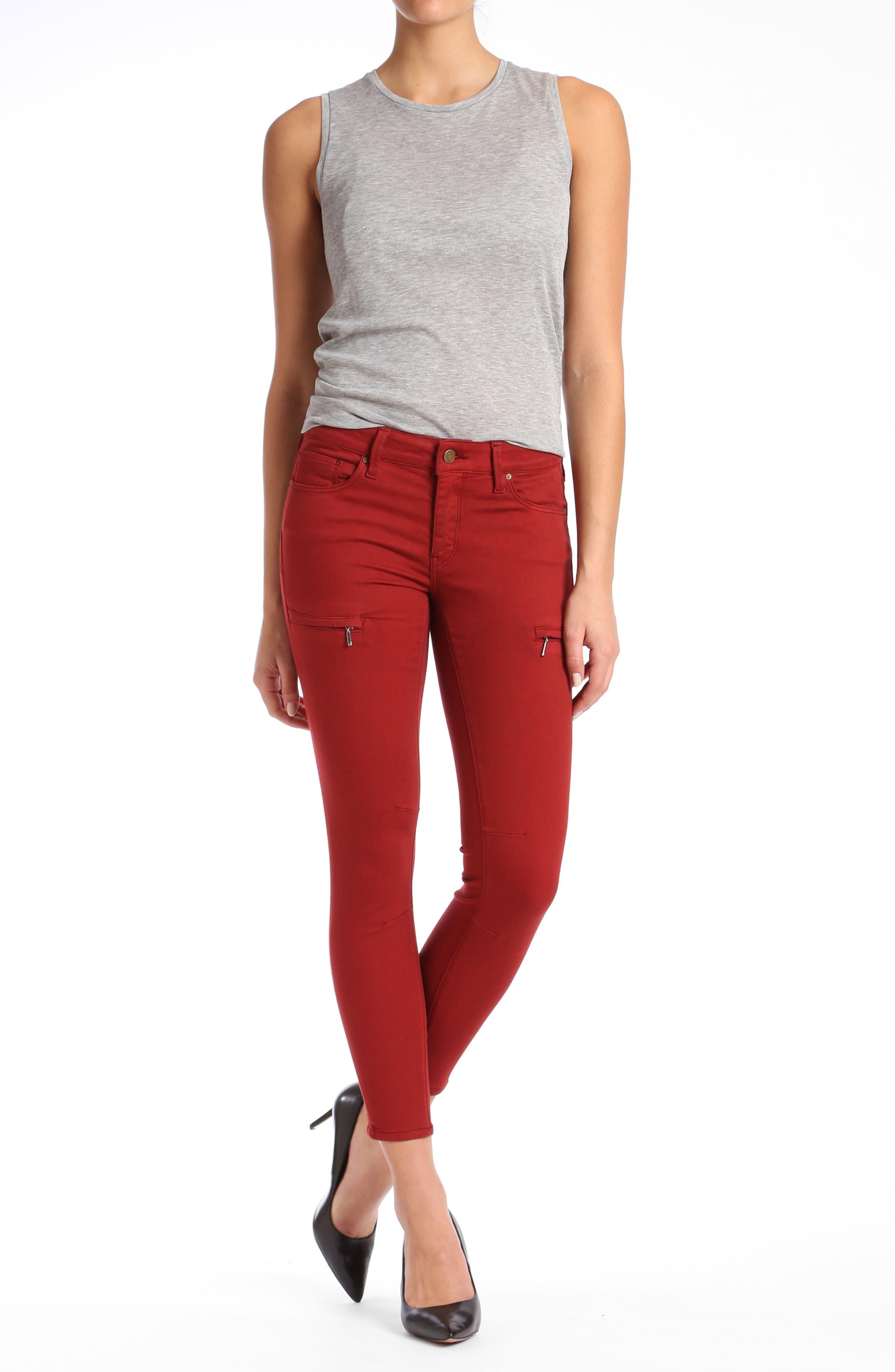 Mavi Karlina Skinny Cargo Jeans,                             Alternate thumbnail 4, color,                             200