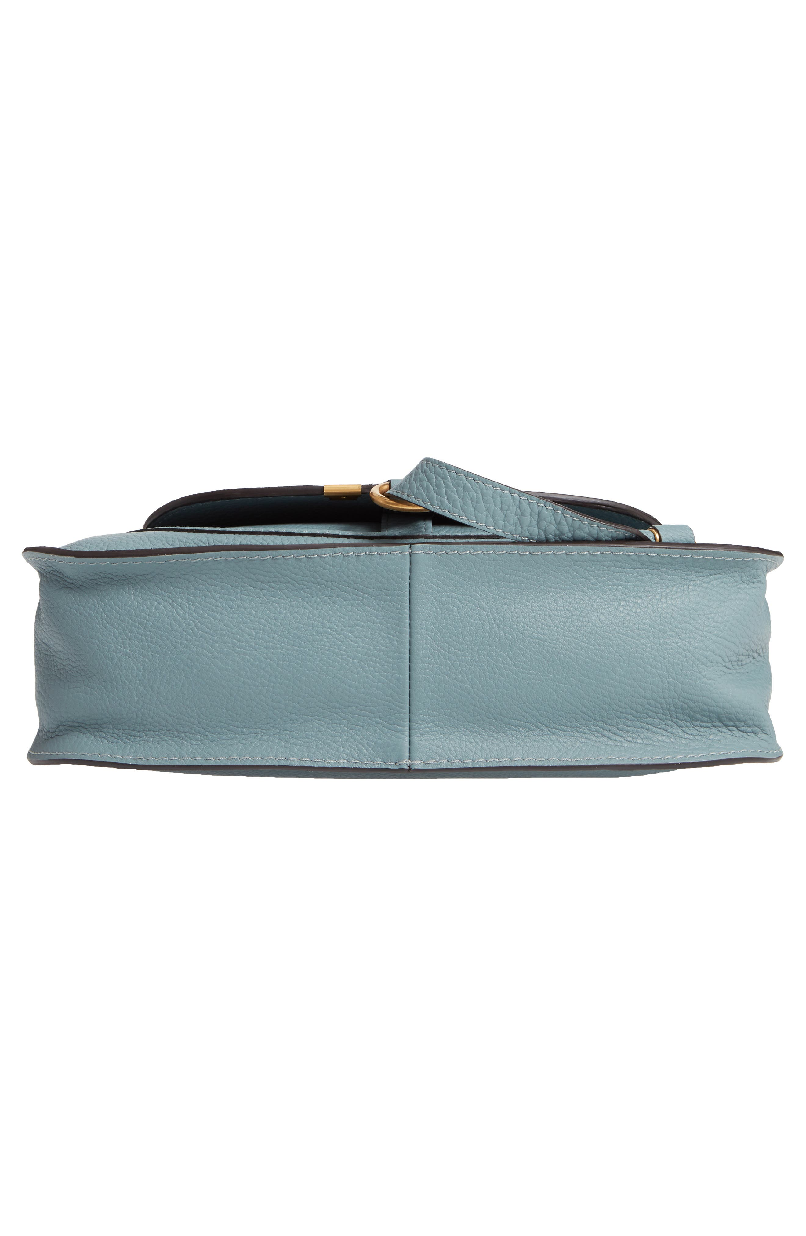 Small Marcie Calfskin Leather Satchel,                             Alternate thumbnail 6, color,                             CLOUDY BLUE