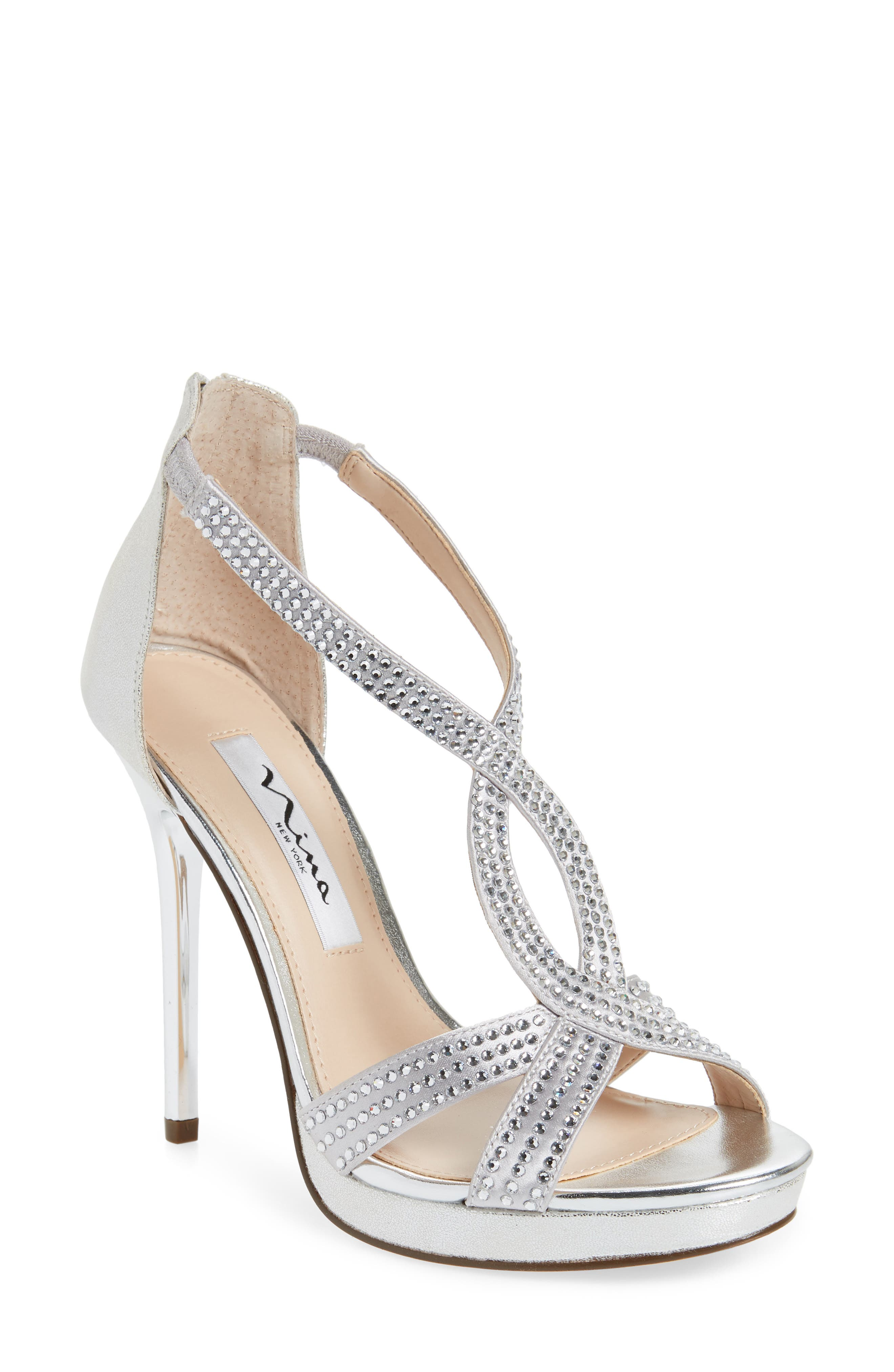 Nina Fianna Strappy Sandal, Metallic