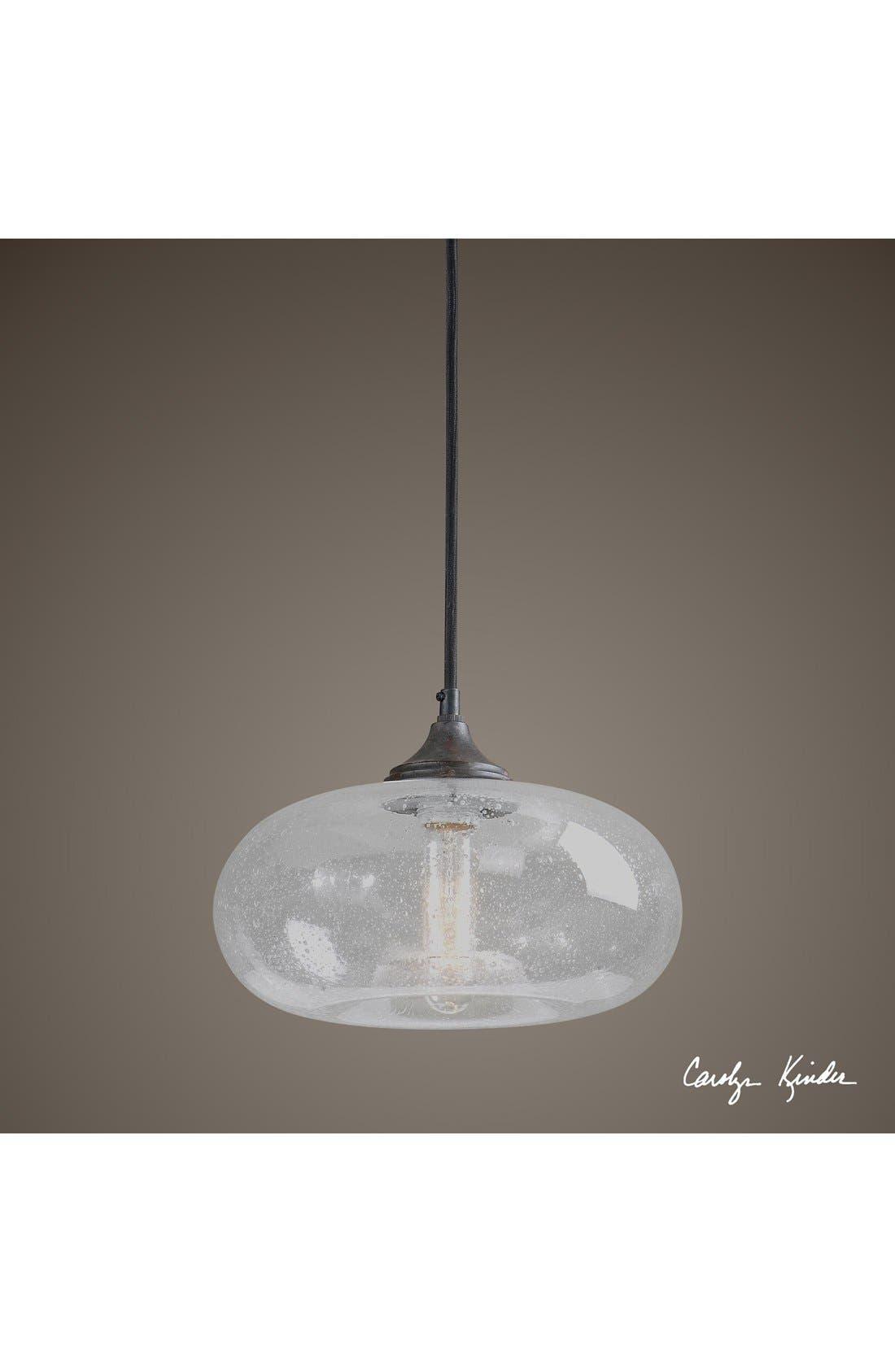 'Torus' Seeded Glass Mini Pendant Light,                             Alternate thumbnail 2, color,                             100