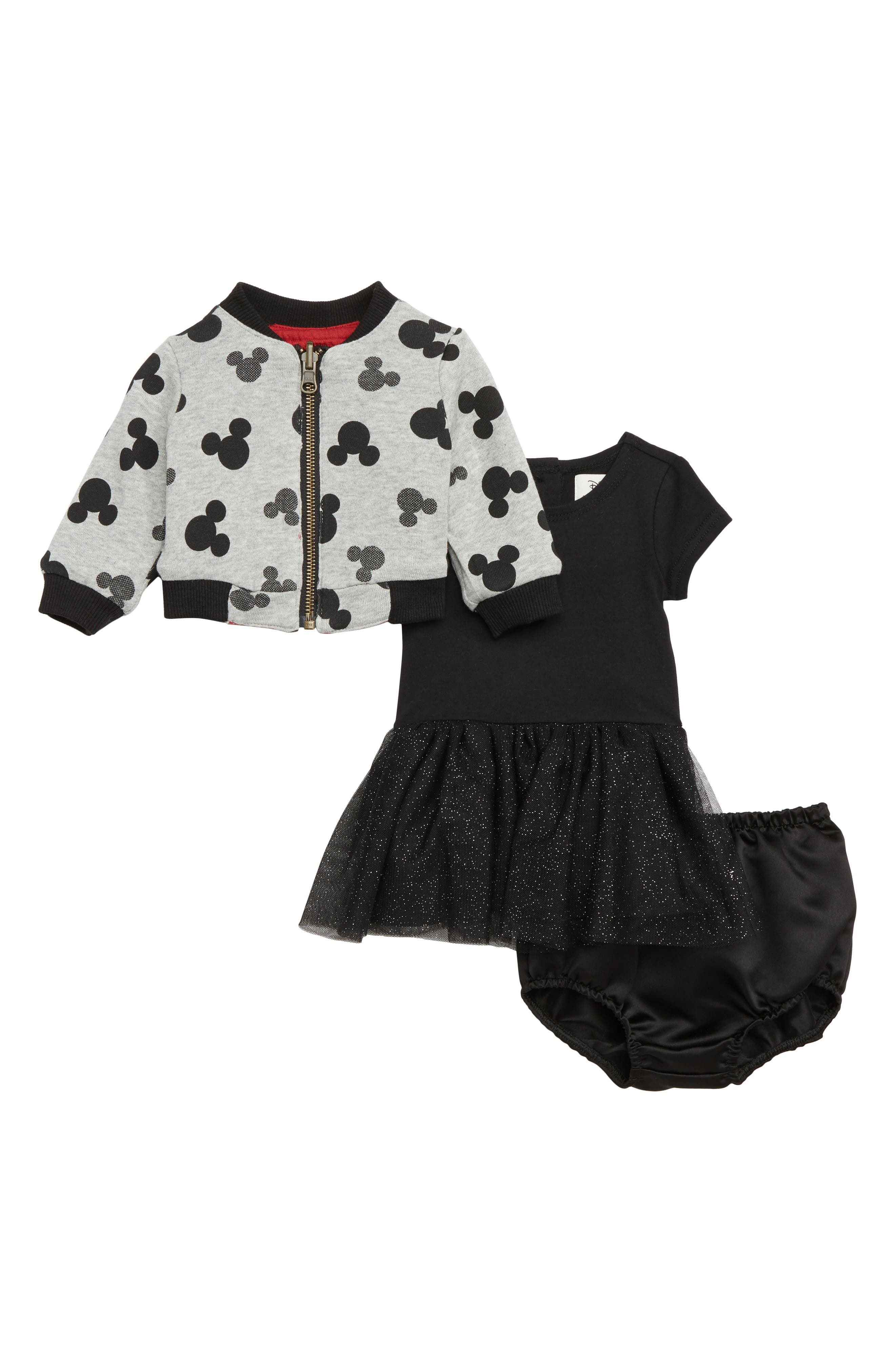 x Disney Minnie Mouse Tutu Dress & Reversible Bomber Jacket Set,                             Alternate thumbnail 2, color,                             619