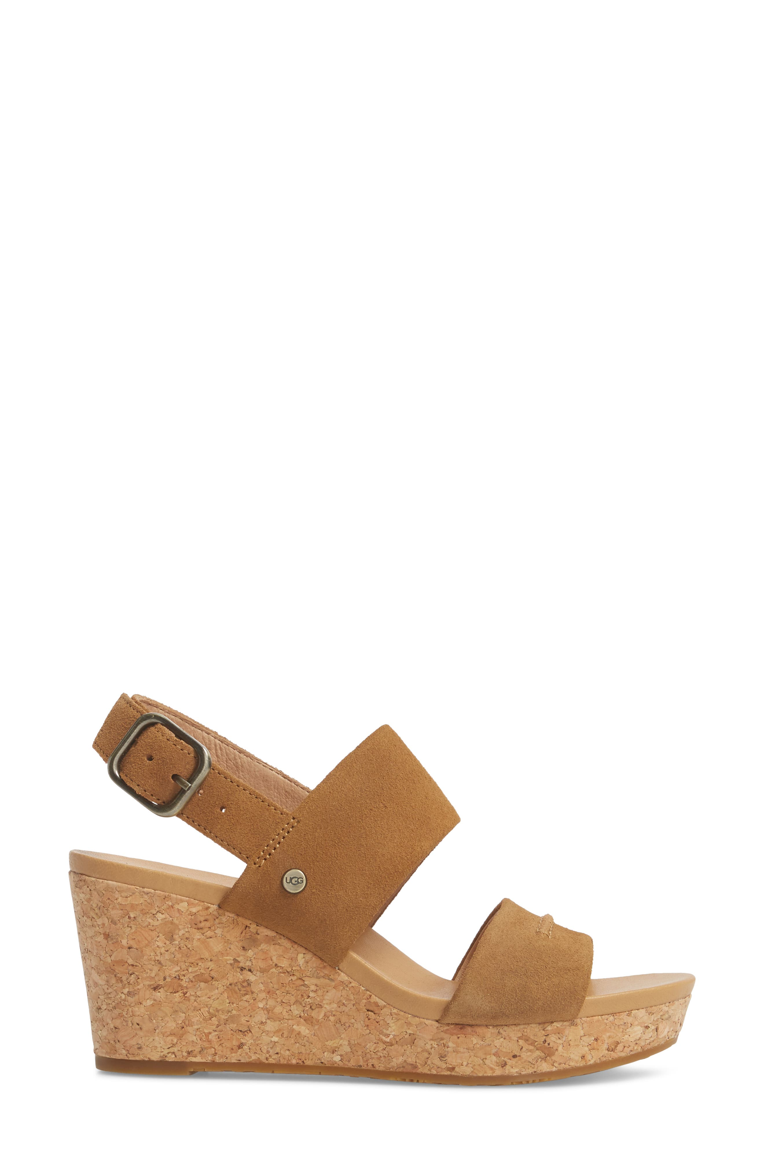 Elena II Platform Wedge Sandal,                             Alternate thumbnail 8, color,