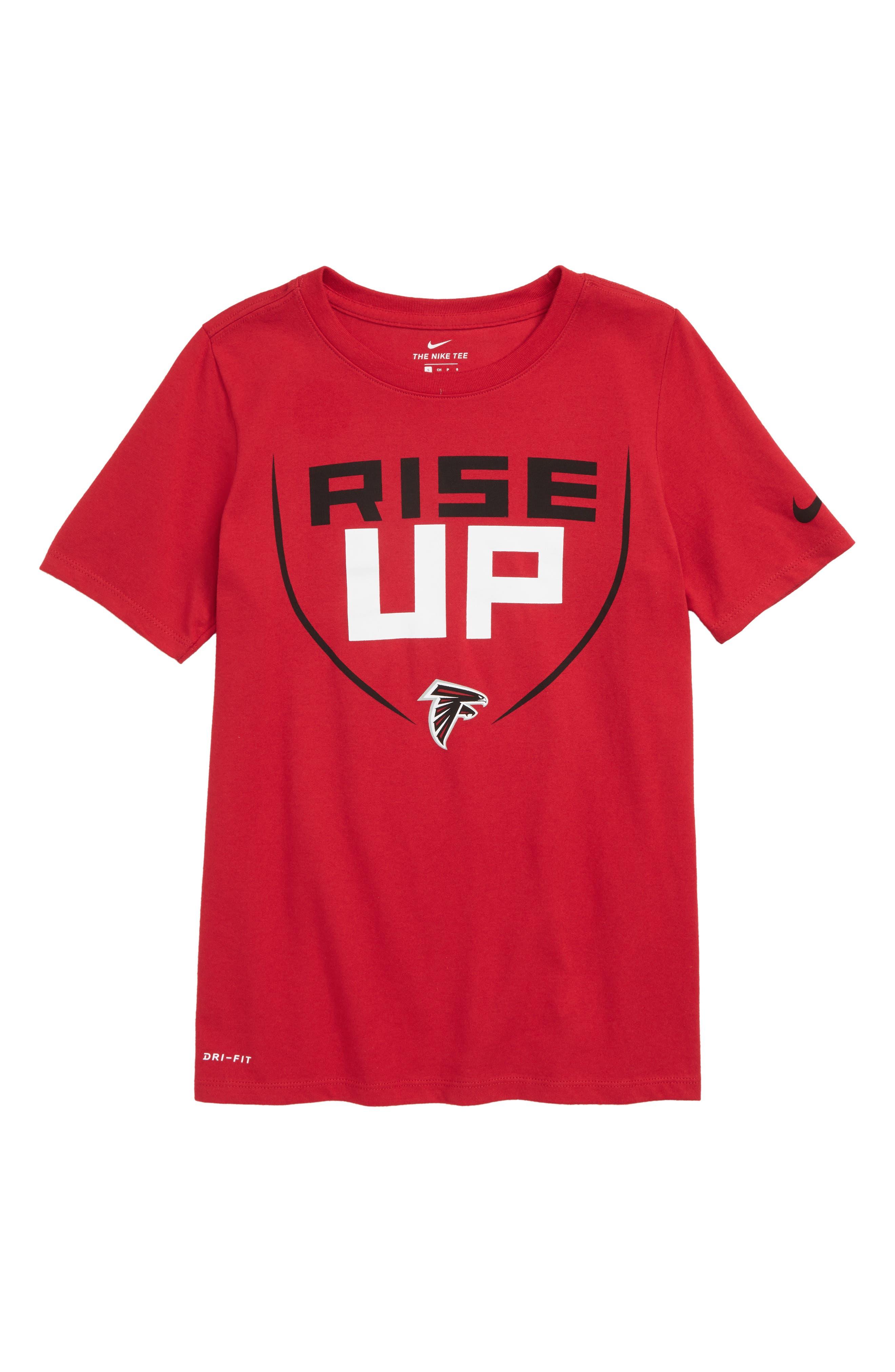 Dry Hyperlocal NFL Atlanta Falcons T-Shirt,                             Main thumbnail 1, color,                             RED