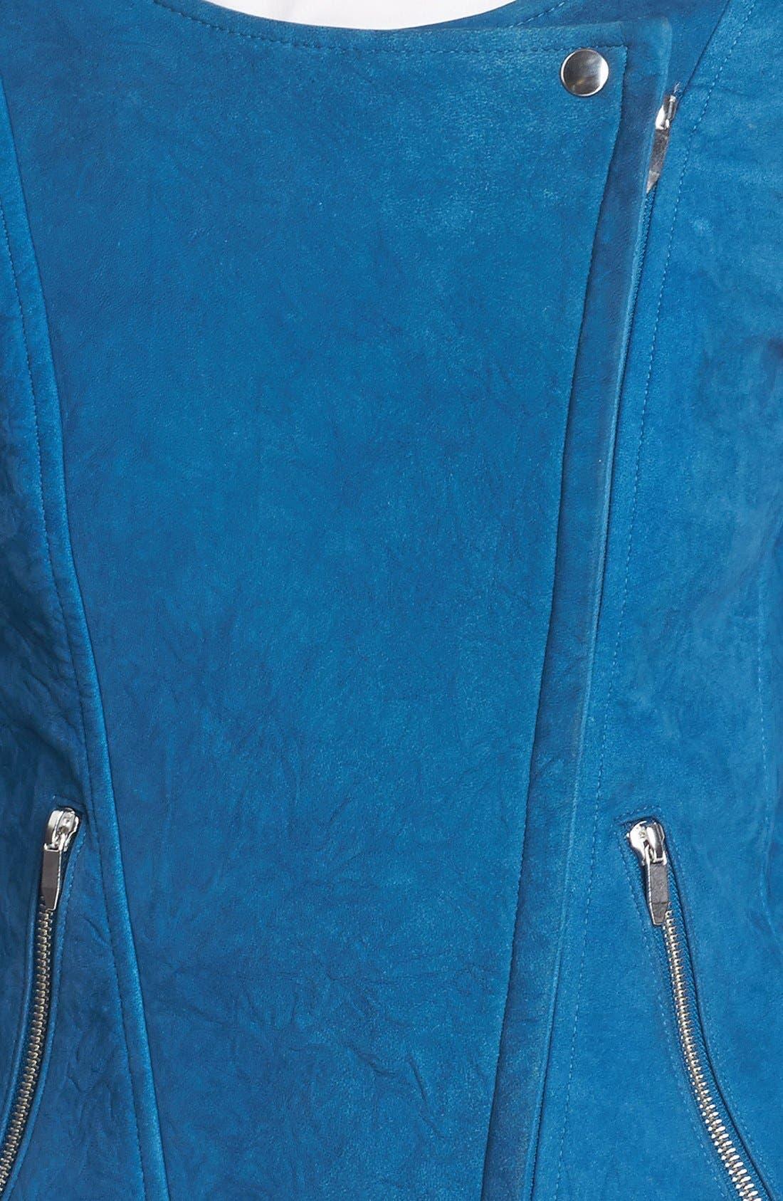 THEYSKENS' THEORY,                             'Jarde Nasher' Leather Jacket,                             Alternate thumbnail 5, color,                             406