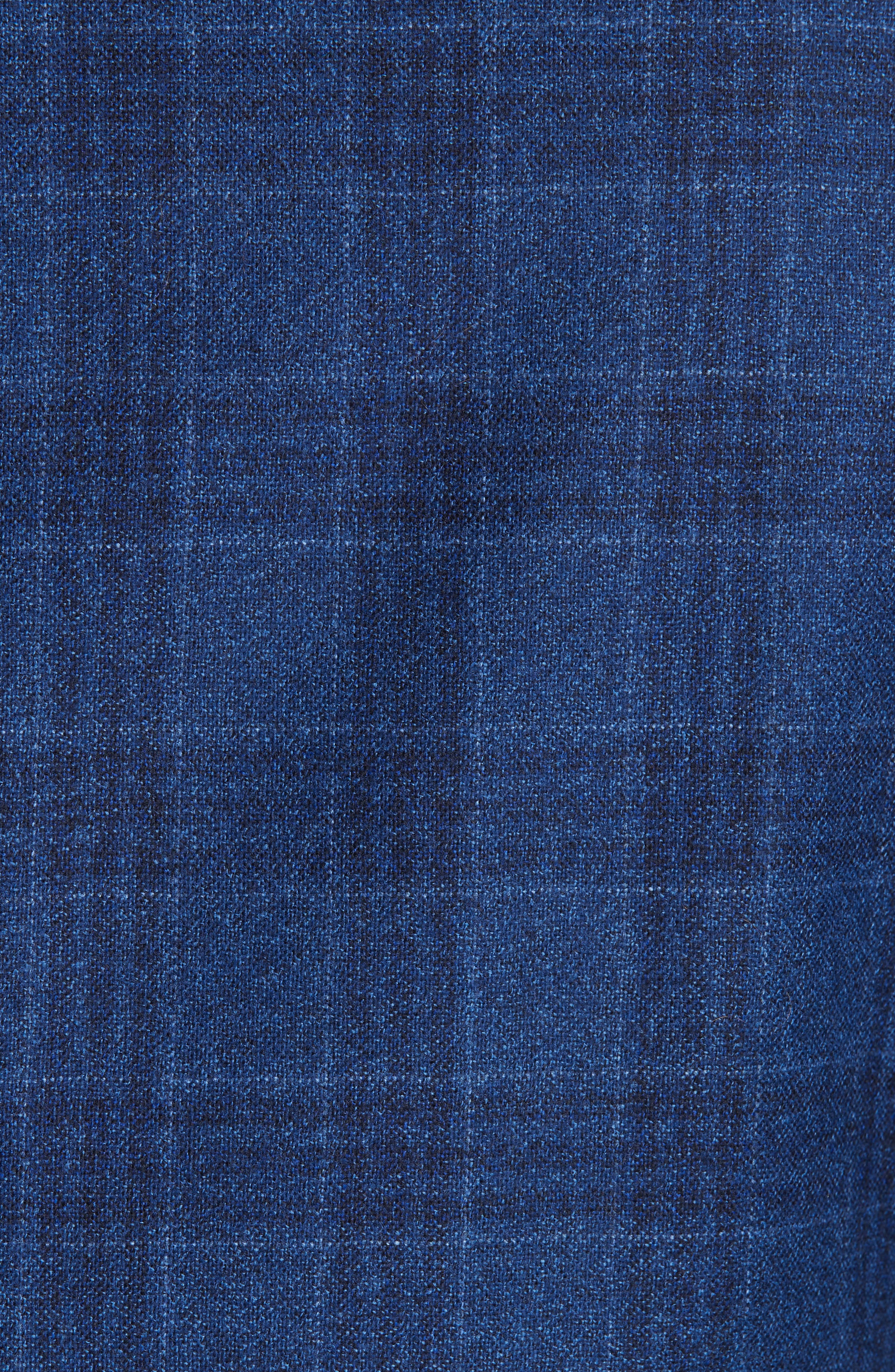 Classic Fit Plaid Wool Sport Coat,                             Alternate thumbnail 6, color,                             BRIGHT BLUE