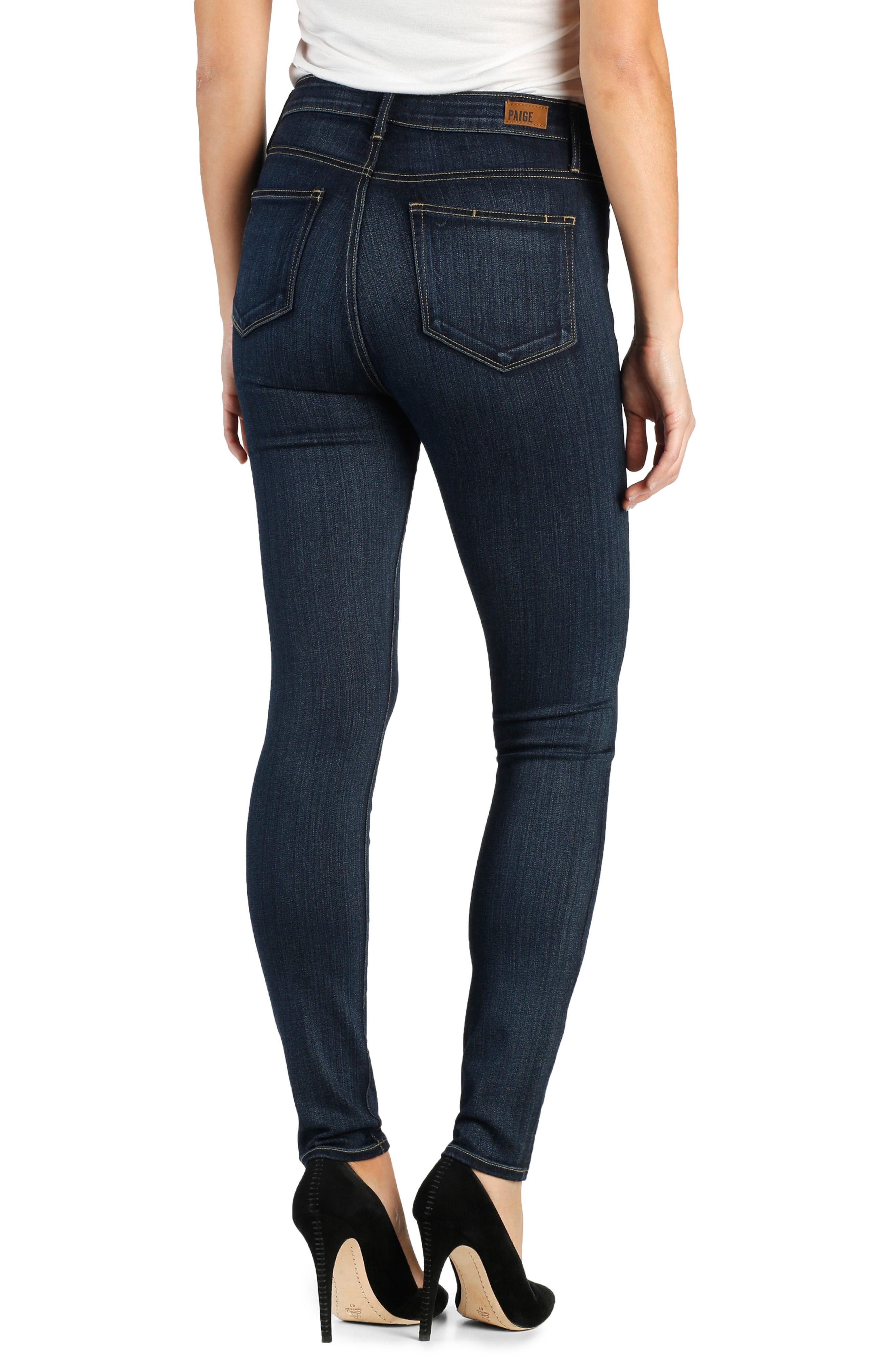 PAIGE,                             Transcend - Margot High Waist Ultra Skinny Jeans,                             Alternate thumbnail 2, color,                             LA RUE NO WHISKERS