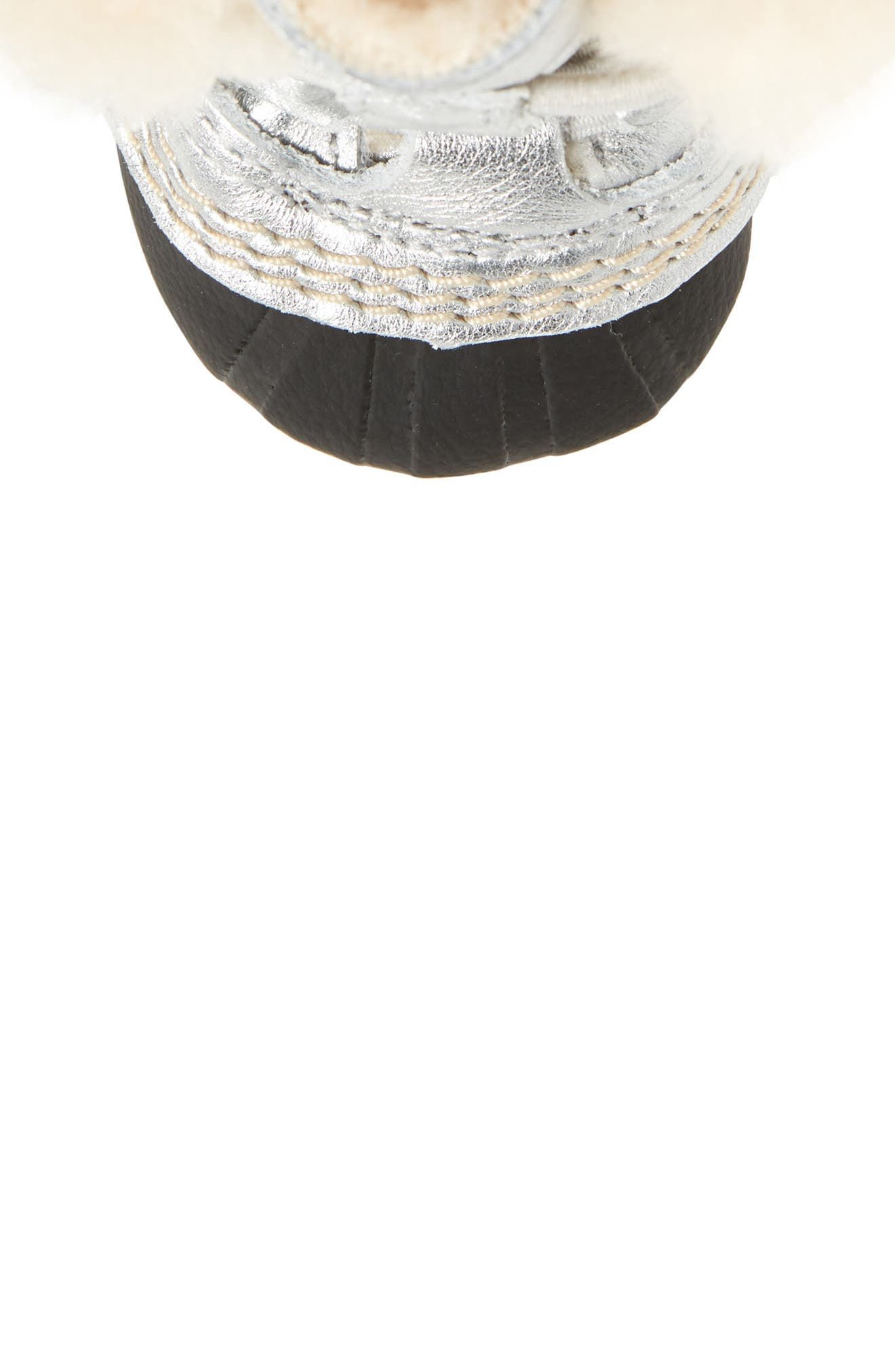 Caribootie Genuine Shearling Crib Shoe,                             Alternate thumbnail 26, color,