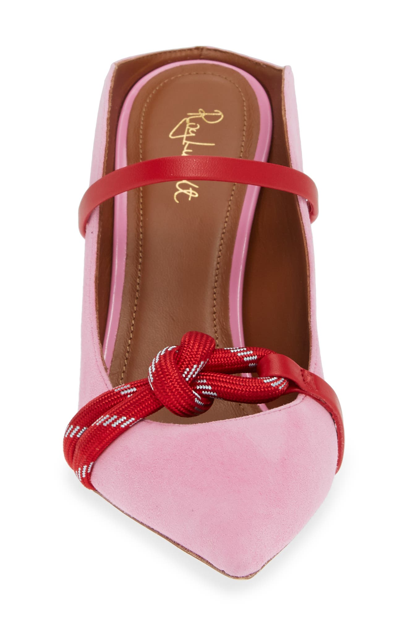 MALONE SOULIERS,                             Rope Pump,                             Alternate thumbnail 4, color,                             BUBBLEGUM/ RED