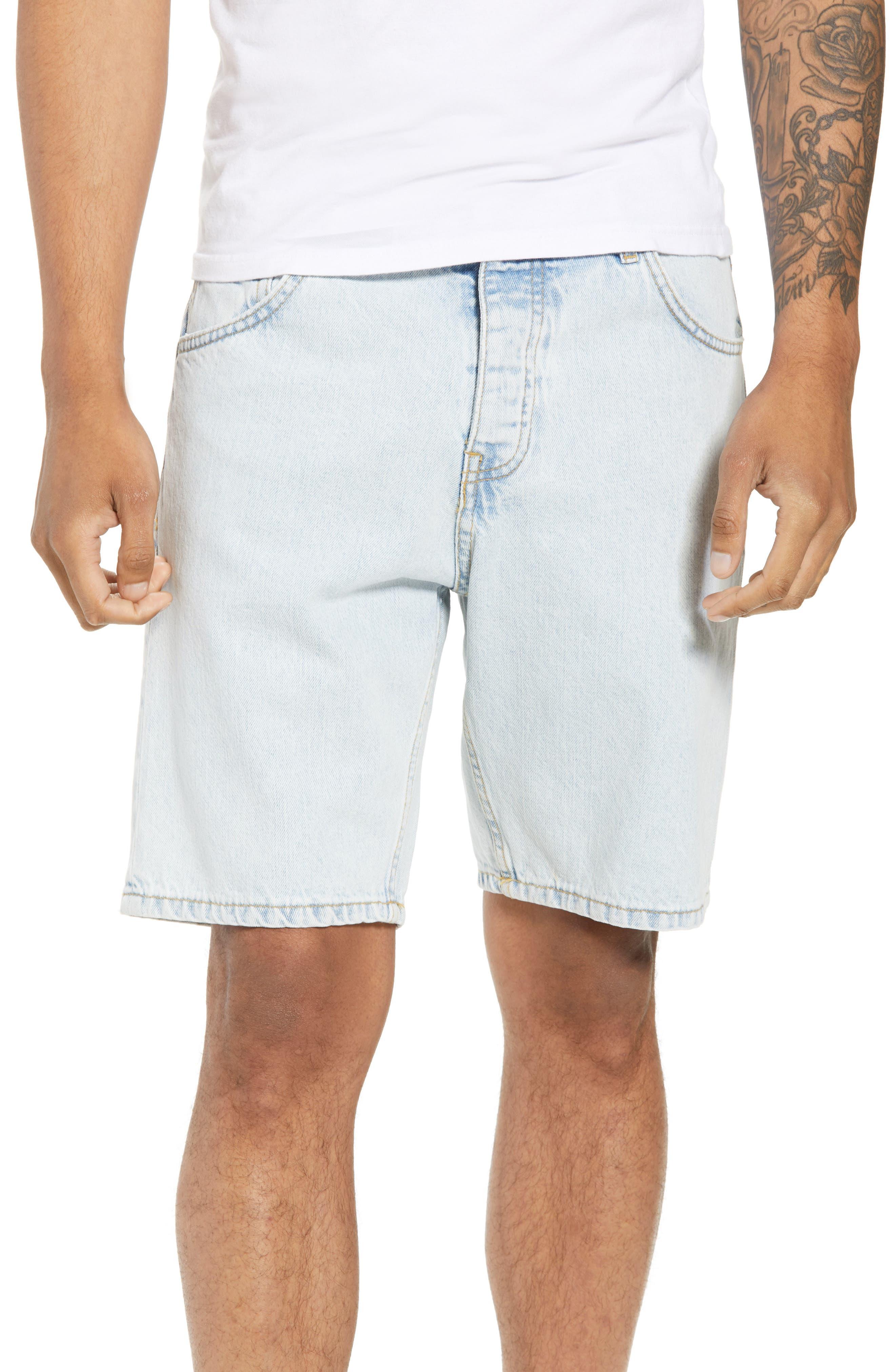 Dr. Denim Jeansmaker Bay Denim Shorts,                         Main,                         color, WORN SUPERLIGHT BLUE