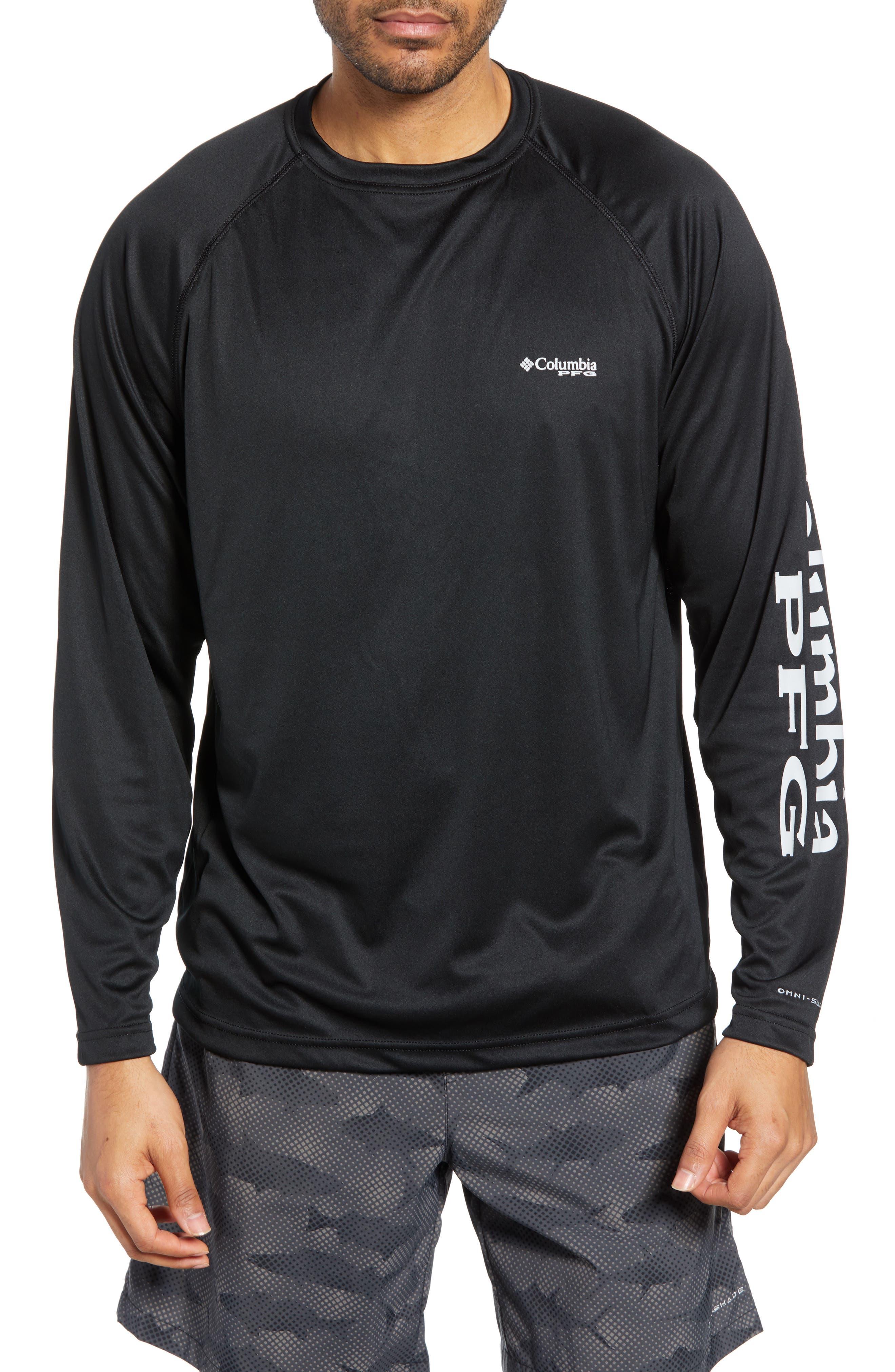 Columbia Pfg Terminal Tackle Performance Long Sleeve T-Shirt, Black