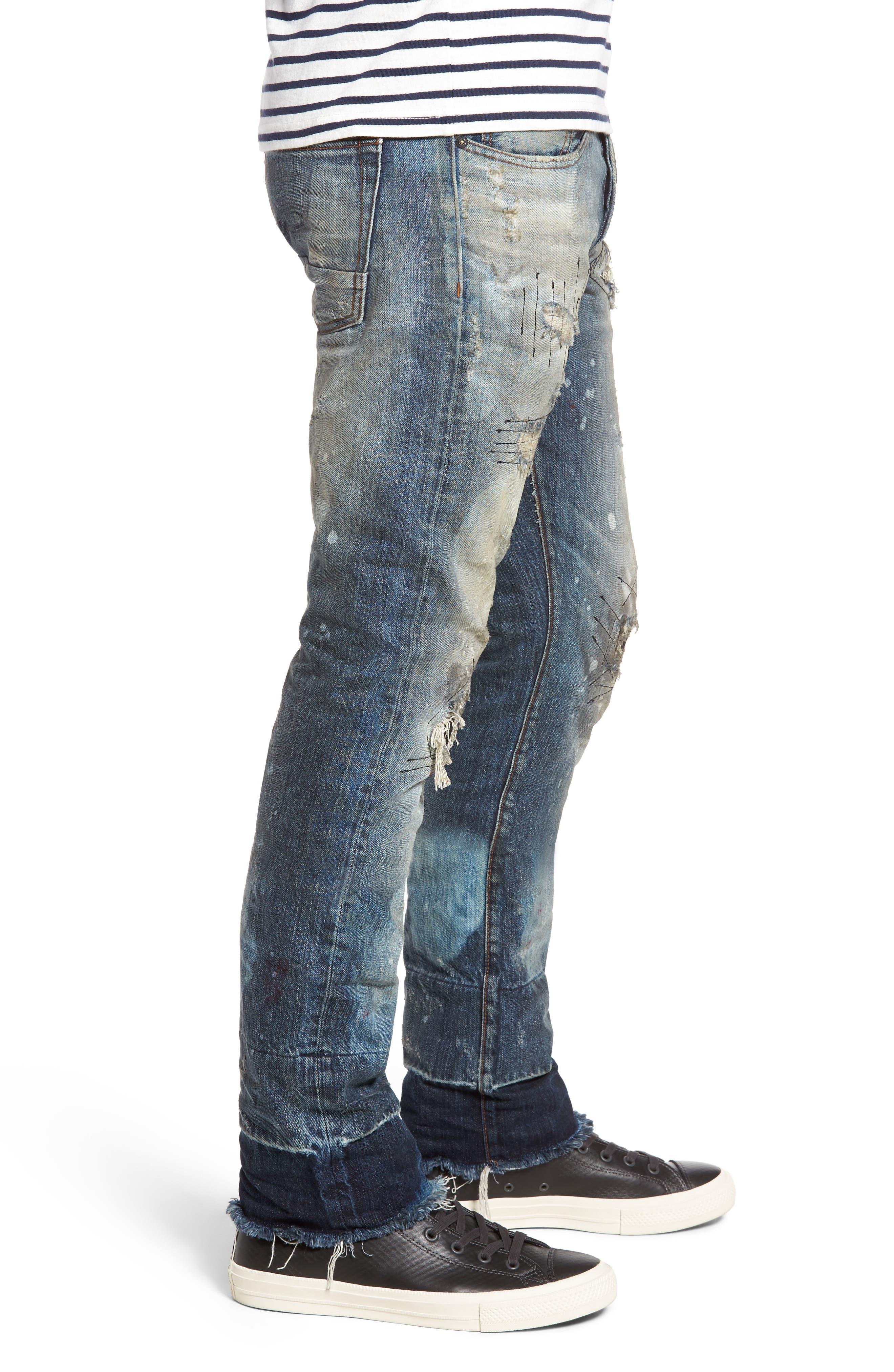 Demon Slim Straight Leg Jeans,                             Alternate thumbnail 3, color,                             490