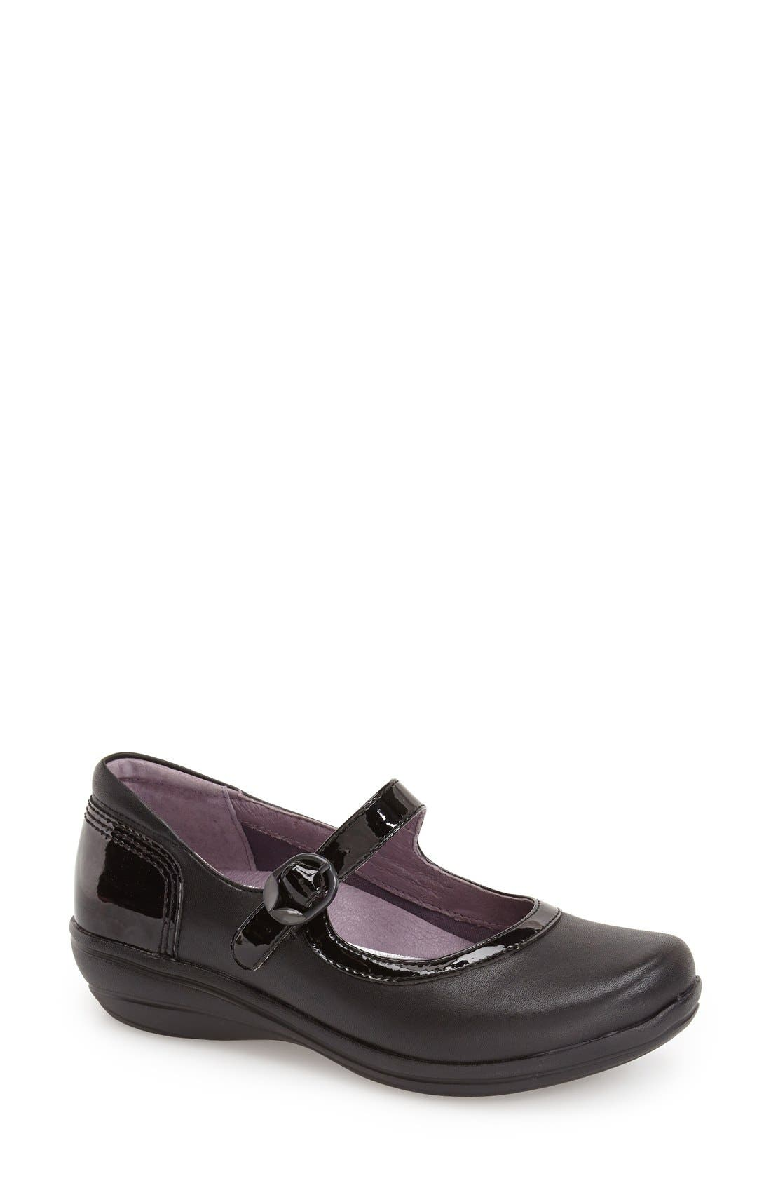 DANSKO,                             'Misty' Mary Jane Wedge,                             Main thumbnail 1, color,                             001