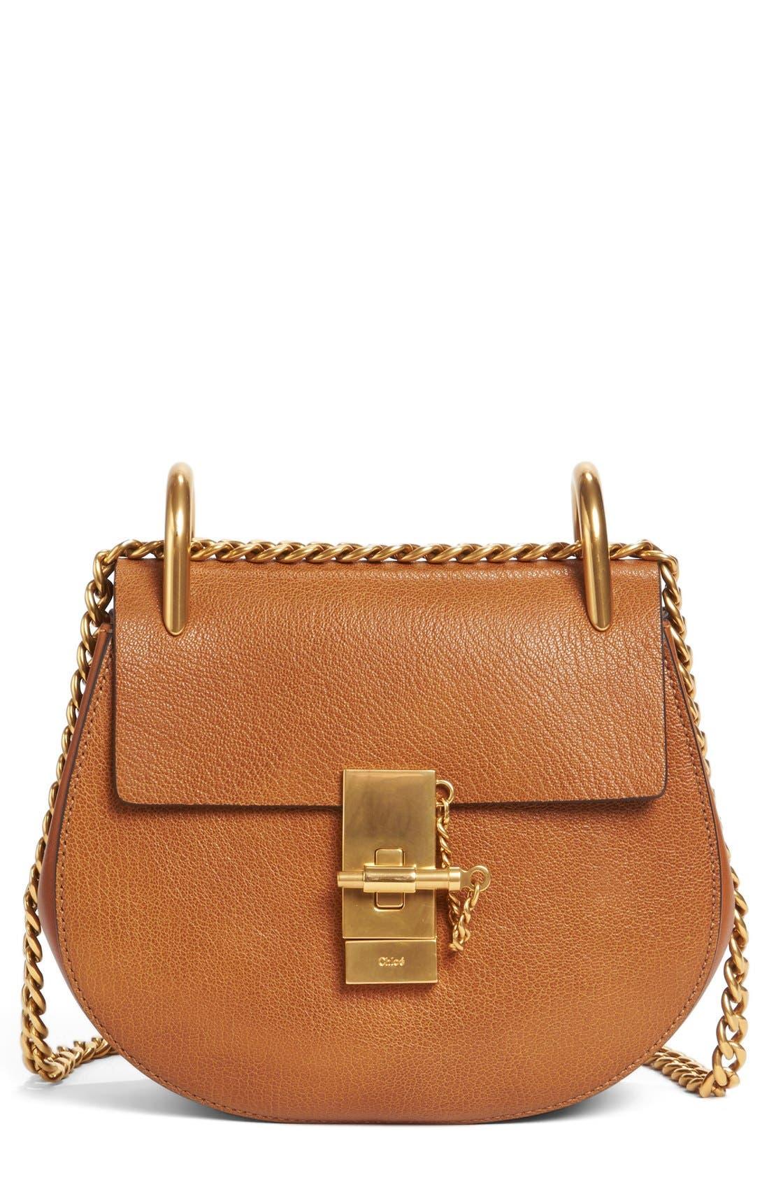 Drew Leather Shoulder Bag, Main, color, 233