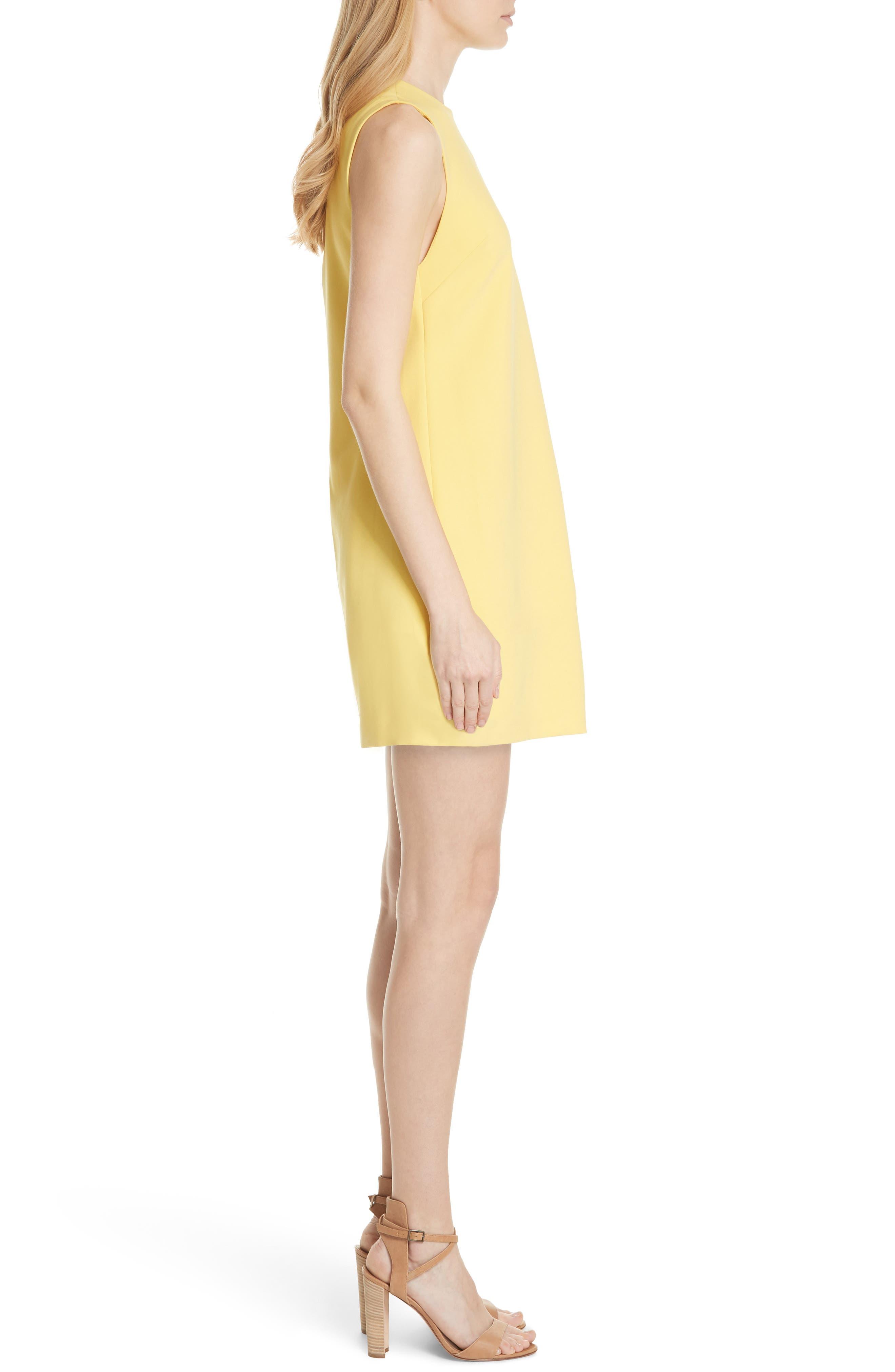 Coley A-Line Dress,                             Alternate thumbnail 3, color,                             LEMON