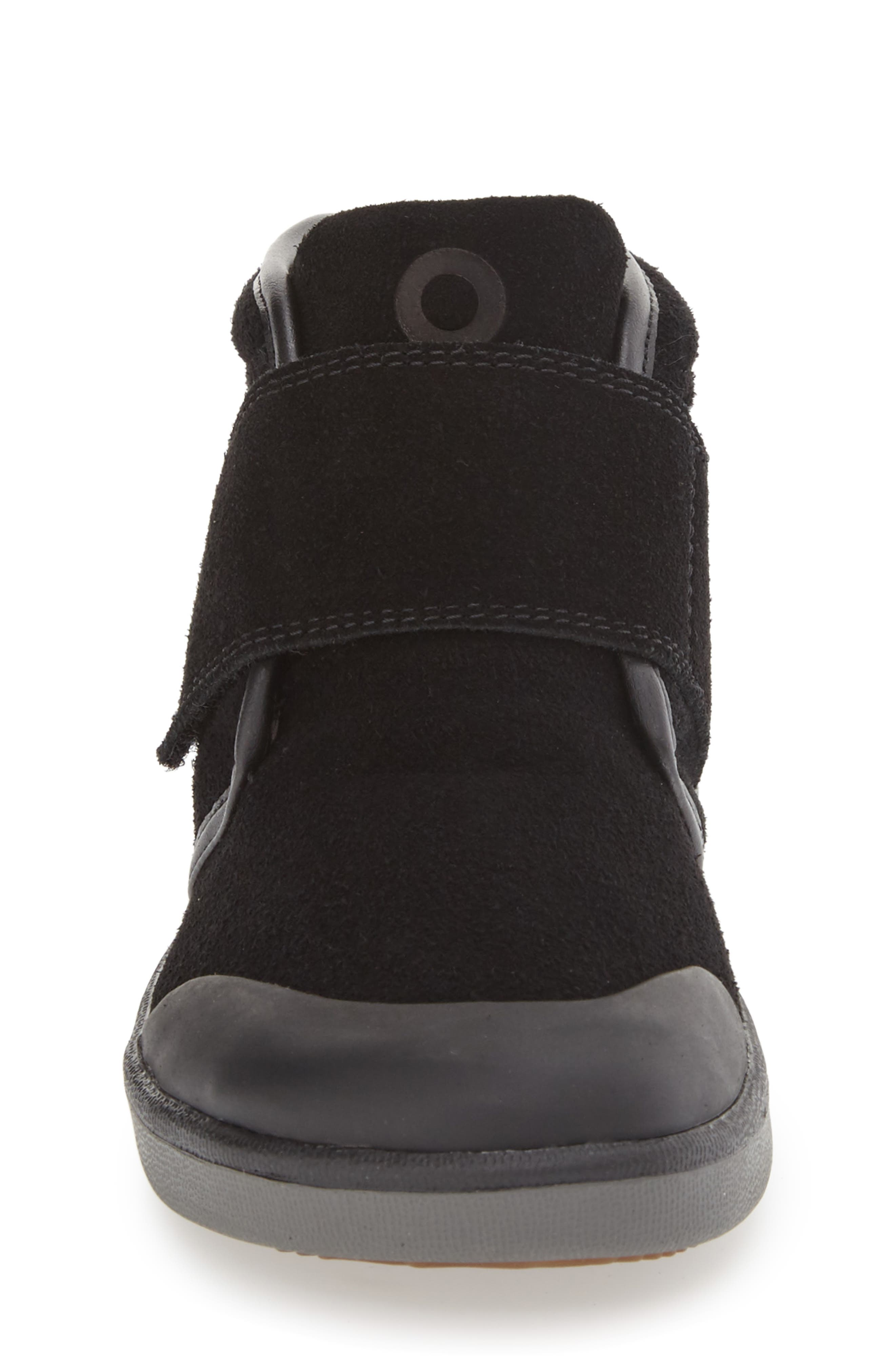 'Sammy' Waterproof Sneaker,                             Alternate thumbnail 4, color,                             BLACK/ BLACK