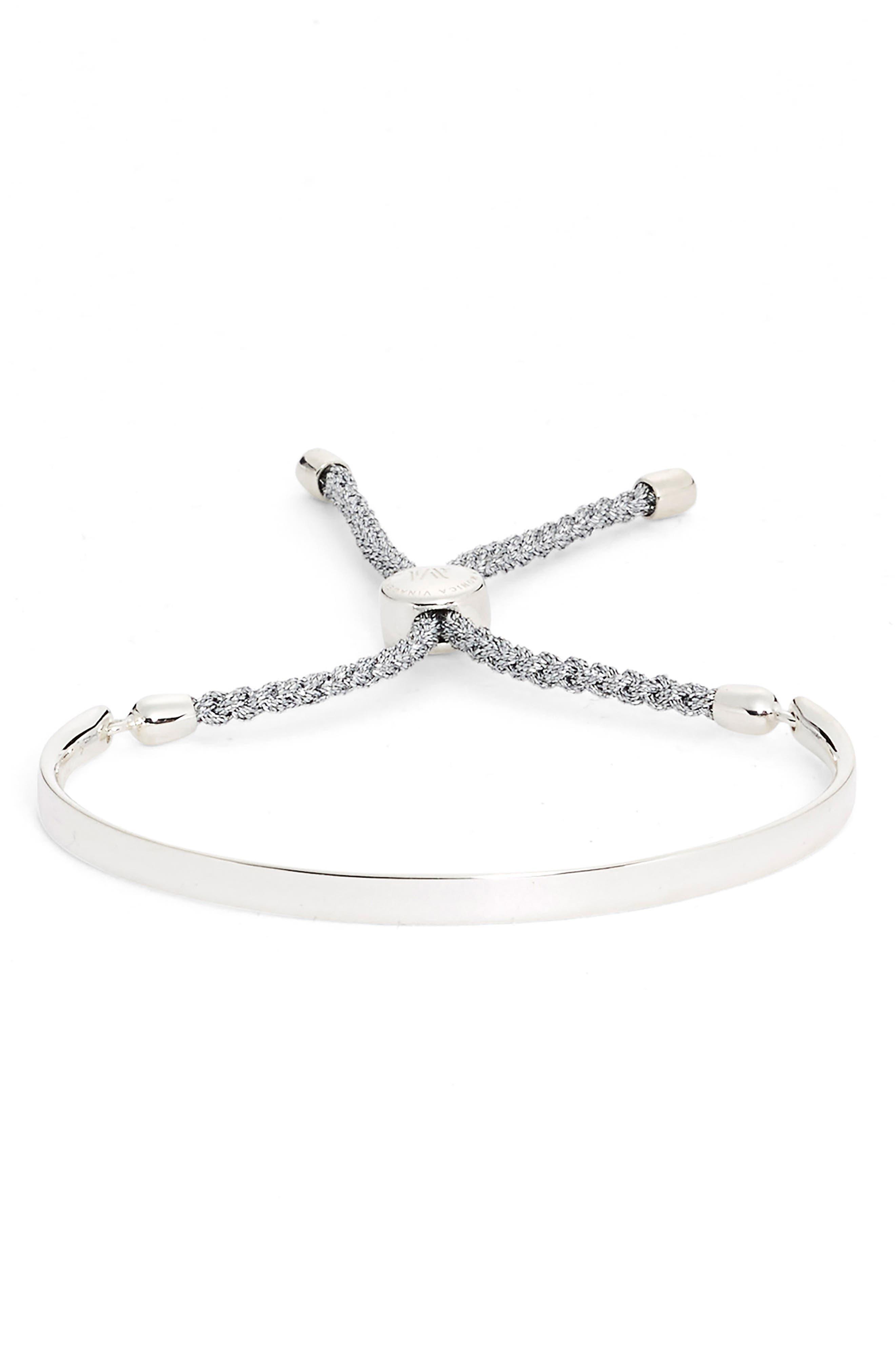 Engravable Fiji Friendship Bracelet,                         Main,                         color, SILVER/ SILVER