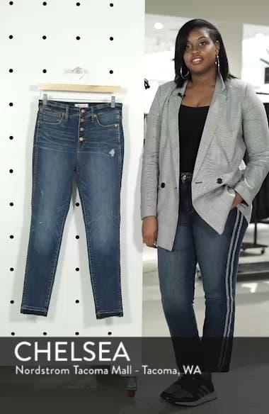 10-Inch High Waist Drop Hem Skinny Jeans, sales video thumbnail