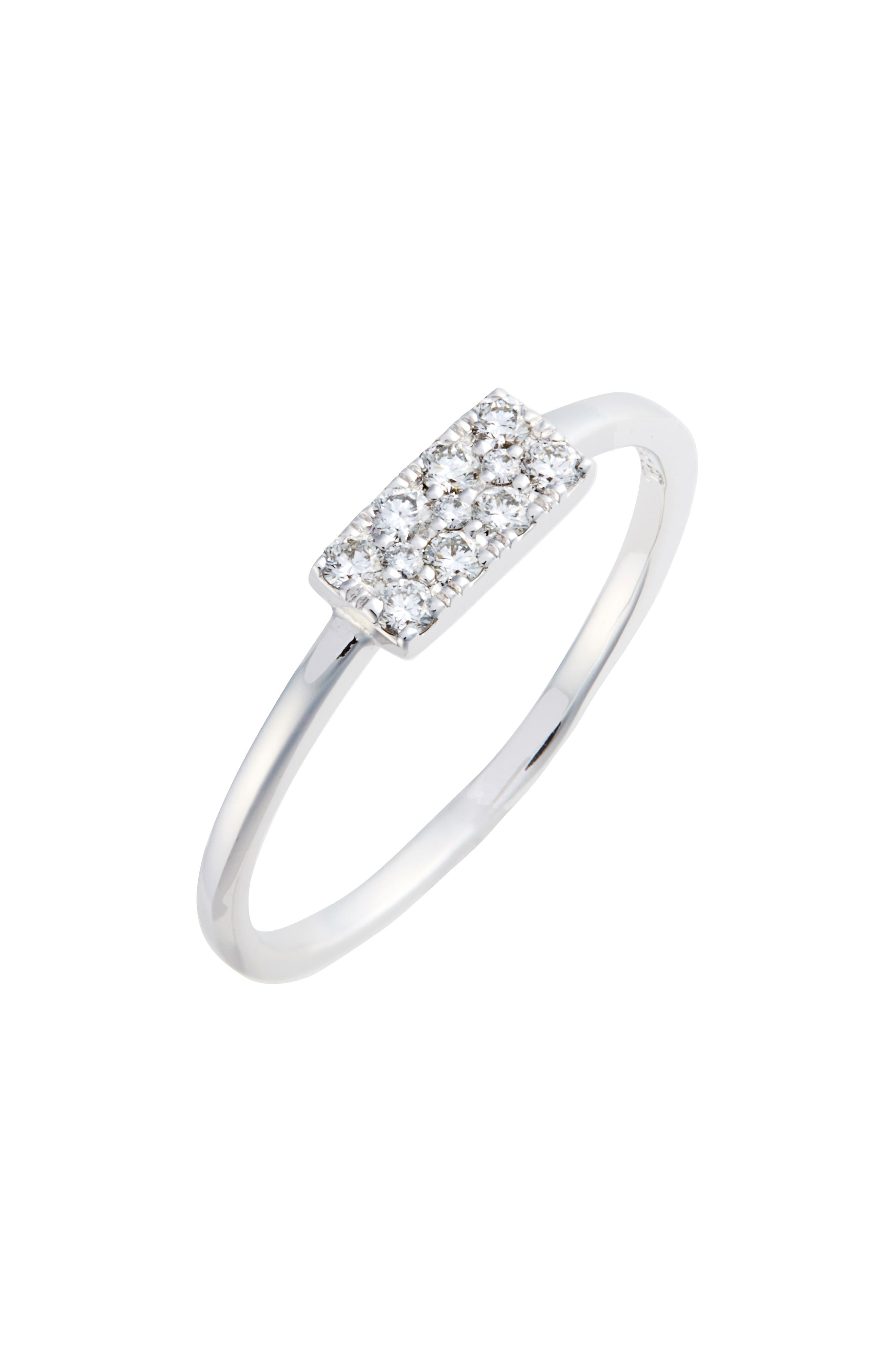 Diamond Rectangle Stacking Ring,                             Main thumbnail 1, color,                             WHITE GOLD/ DIAMOND