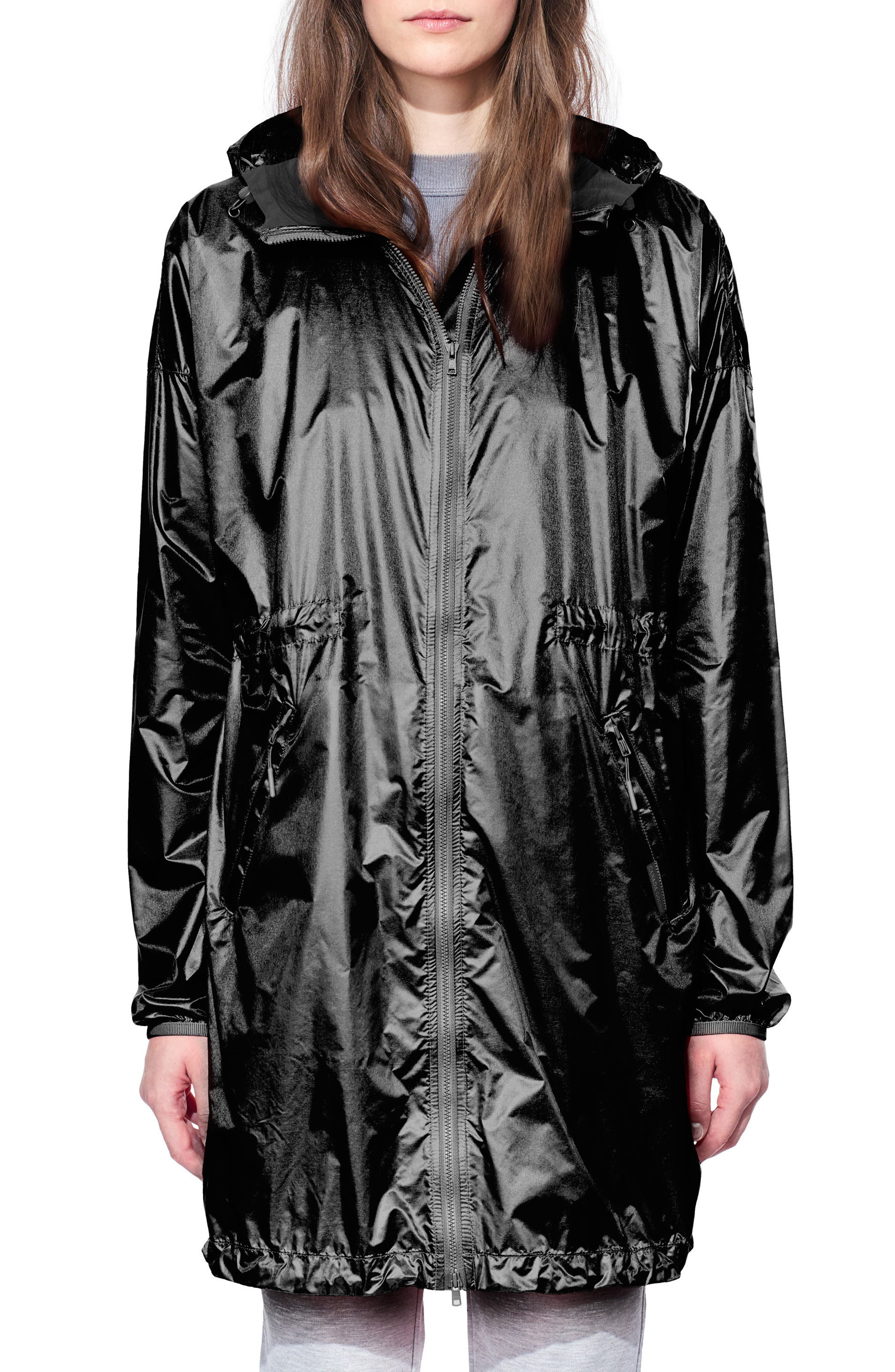 Rosewell Hooded Jacket,                         Main,                         color, BLACK