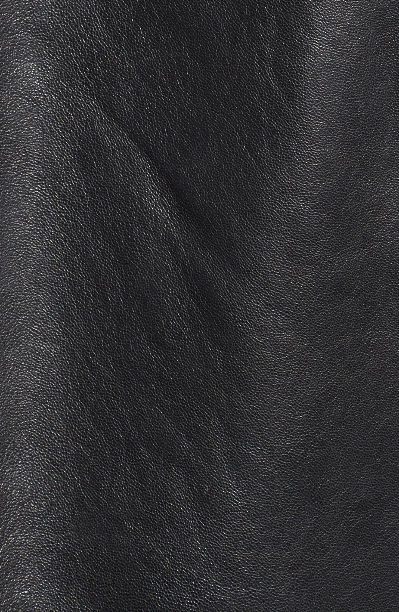 Kirwin Sheepskin Leather Jacket,                             Alternate thumbnail 6, color,                             001