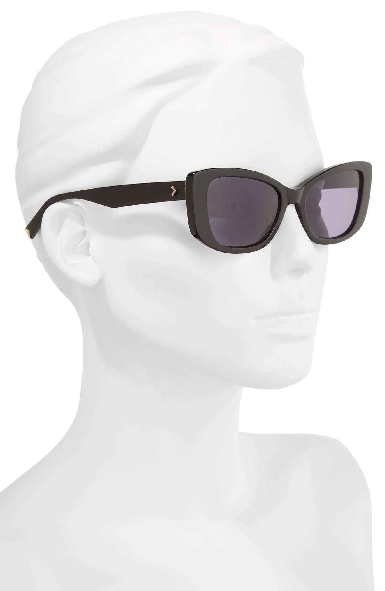 53mm Cat Eye Sunglasses,                             Alternate thumbnail 2, color,                             001