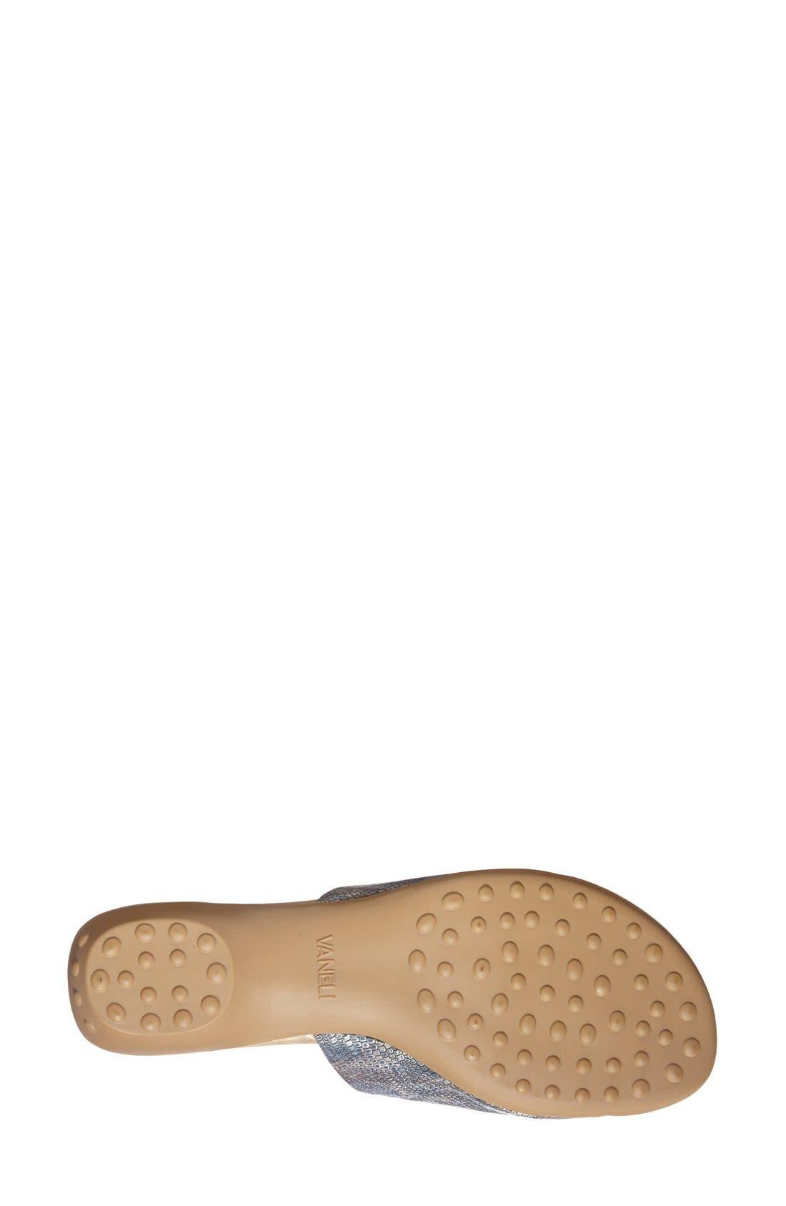 'Tallis' Snake Embossed Leather Slide Sandal,                             Alternate thumbnail 12, color,