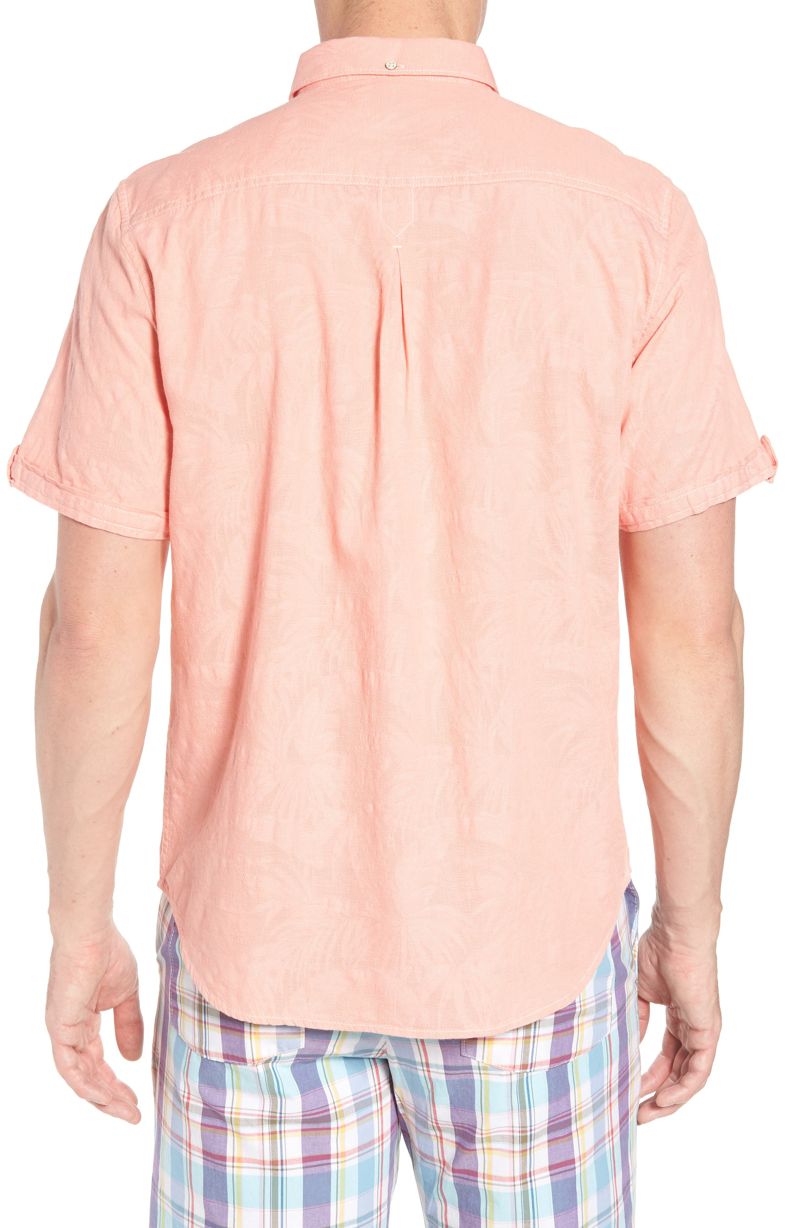 Desert Fronds Sport Shirt,                             Alternate thumbnail 9, color,