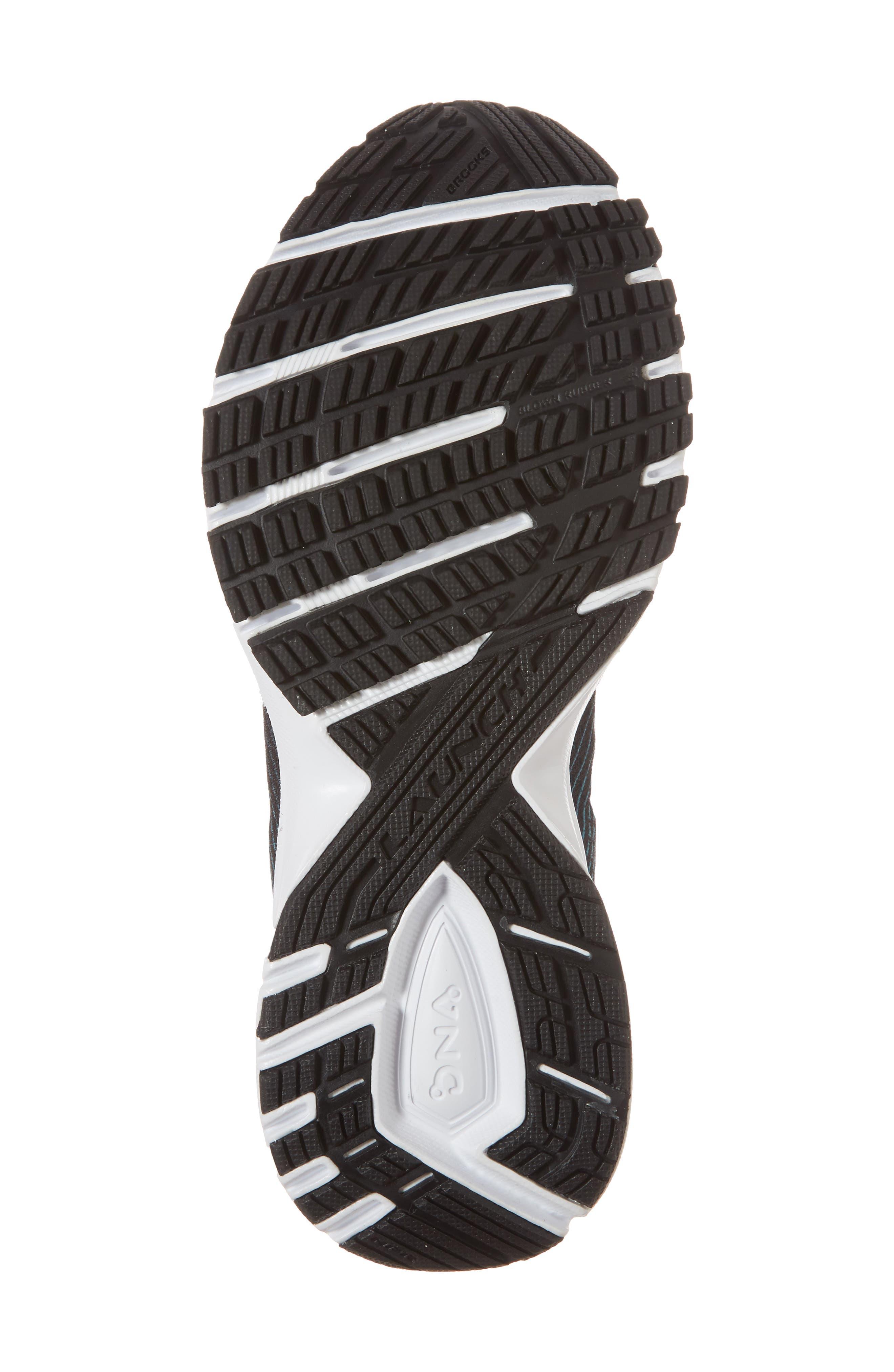 BROOKS,                             Launch 5 Running Shoe,                             Alternate thumbnail 6, color,                             BLACK/ TEAL GREEN/ WHITE