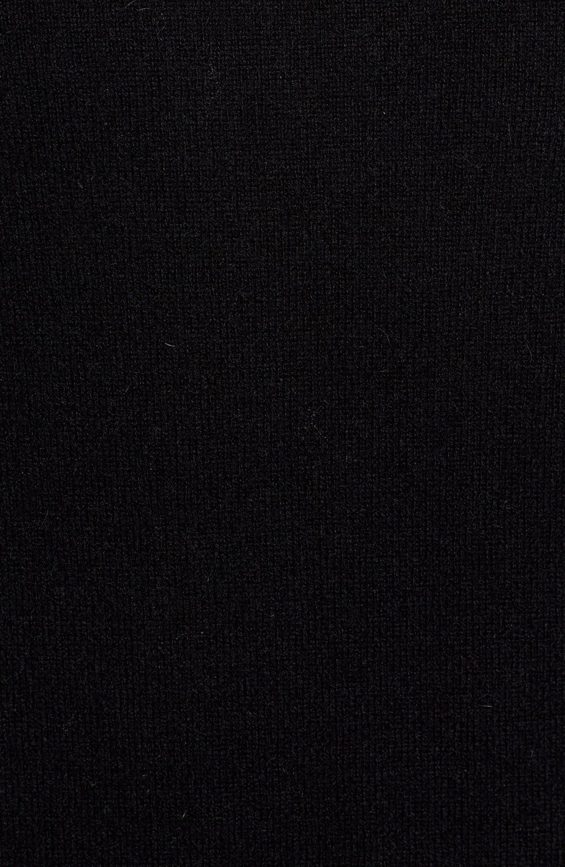 Cashmere Crewneck Sweater,                             Alternate thumbnail 5, color,                             BLACK CAVIAR