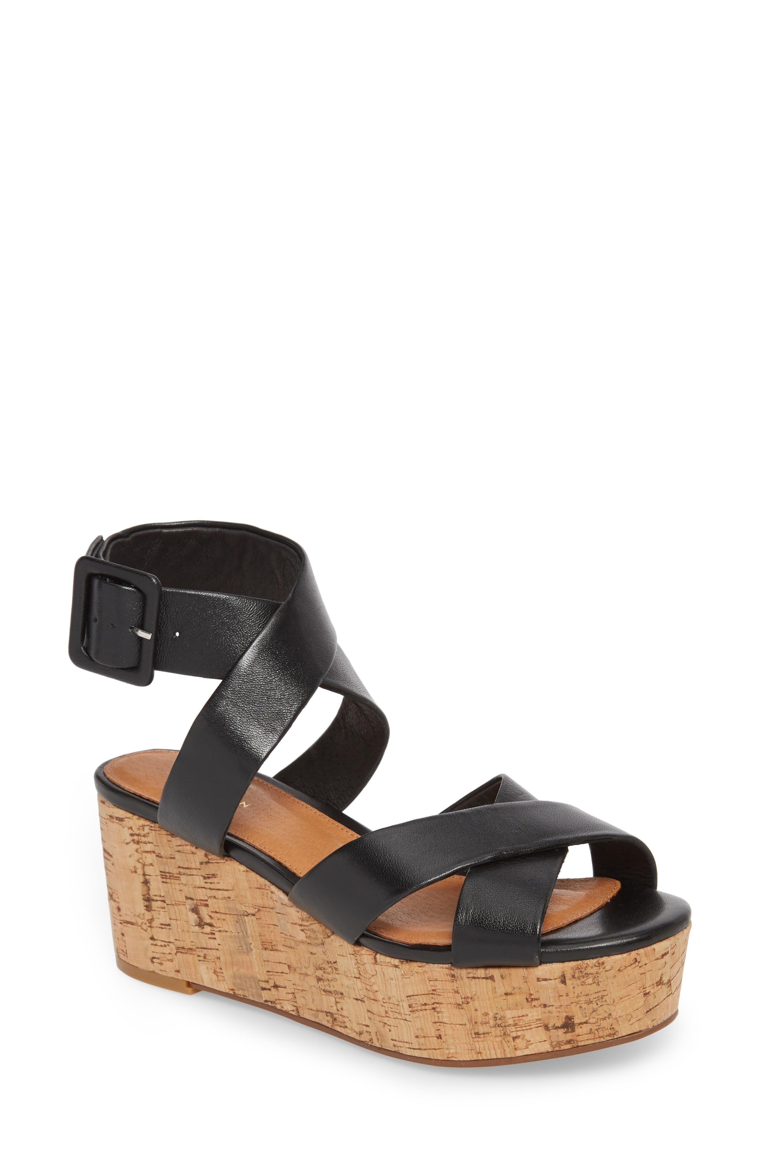 Evie Platform Wedge Sandal,                             Main thumbnail 1, color,