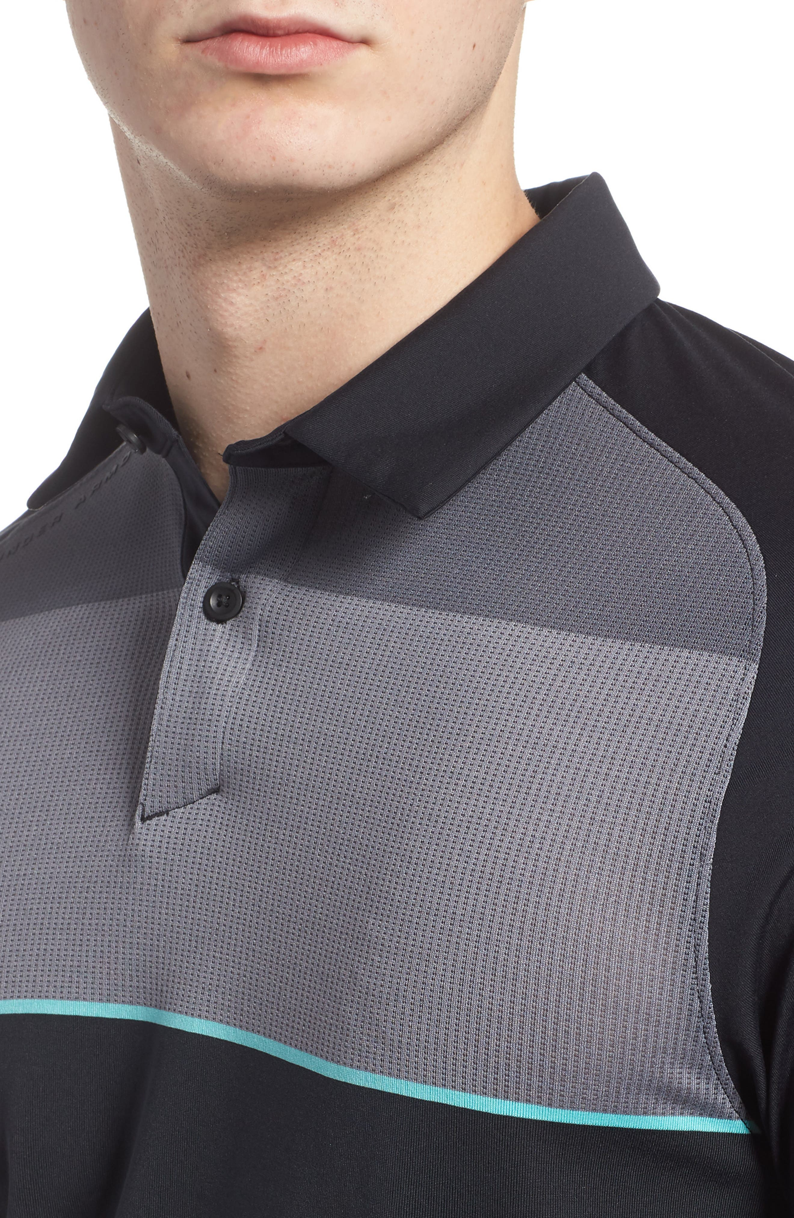 Threadborne Infinite Regular Fit Polo Shirt,                             Alternate thumbnail 4, color,                             001