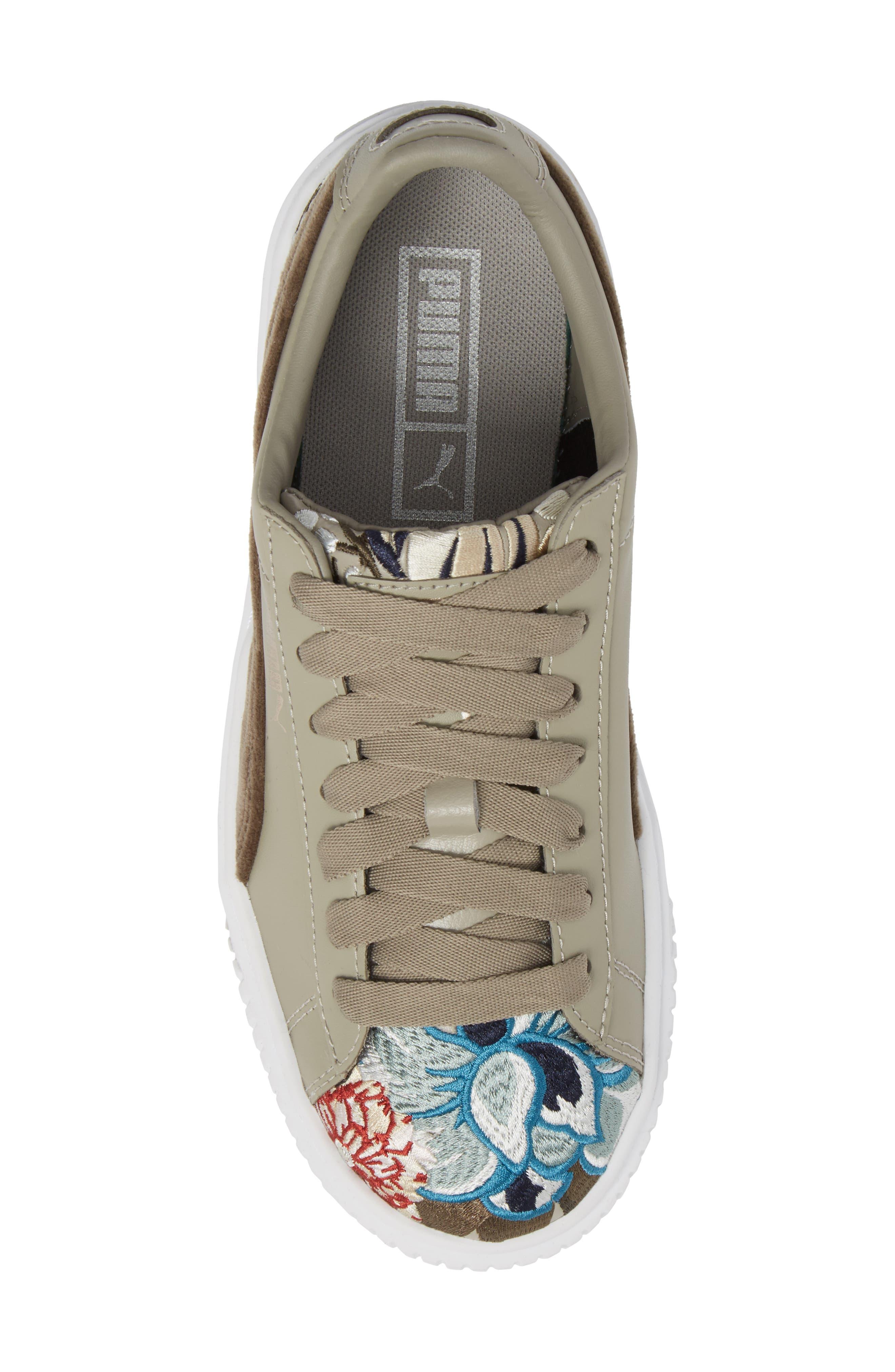 Platform Hyper Embroidered Sneaker,                             Alternate thumbnail 9, color,